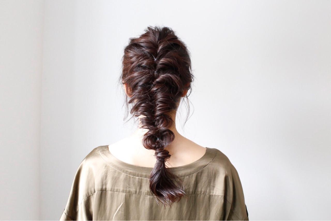 デート ヘアアレンジ 簡単ヘアアレンジ 編み込み ヘアスタイルや髪型の写真・画像