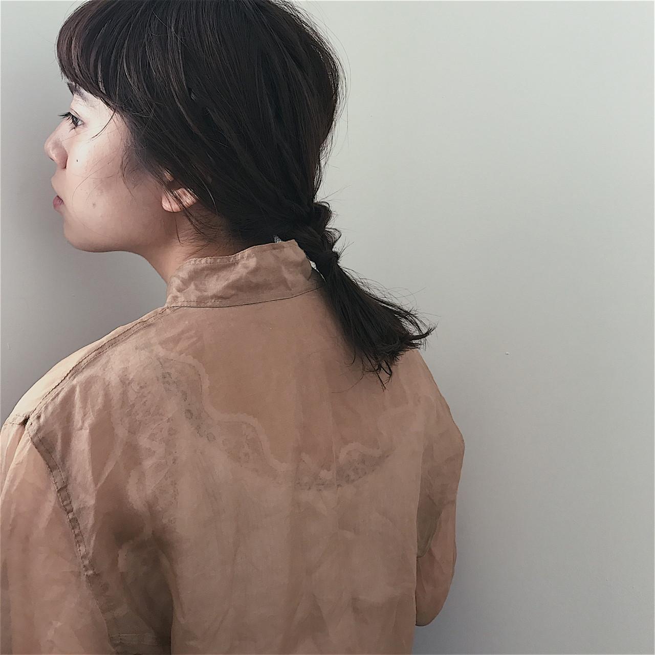 デート ナチュラル 抜け感 簡単ヘアアレンジ ヘアスタイルや髪型の写真・画像
