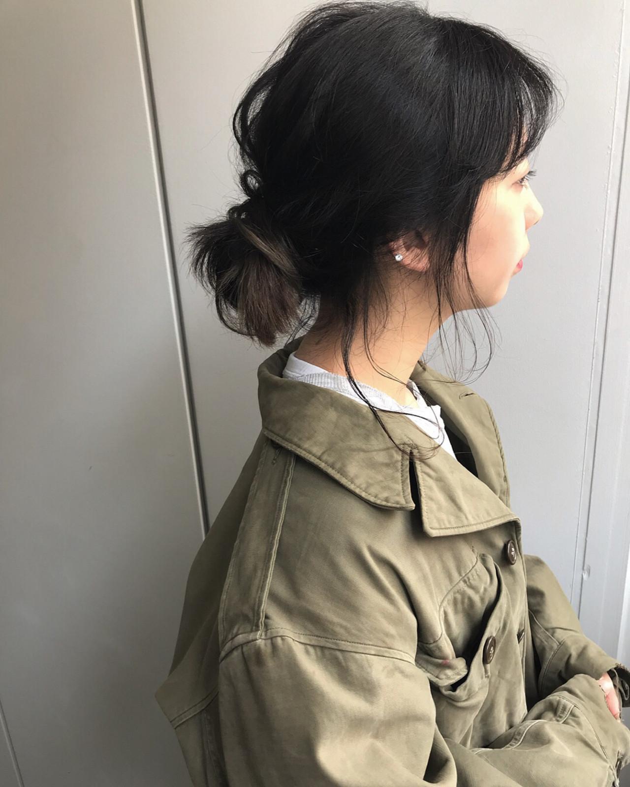 仕事にも◎黒髪ローメッシーバン 遠藤広陵