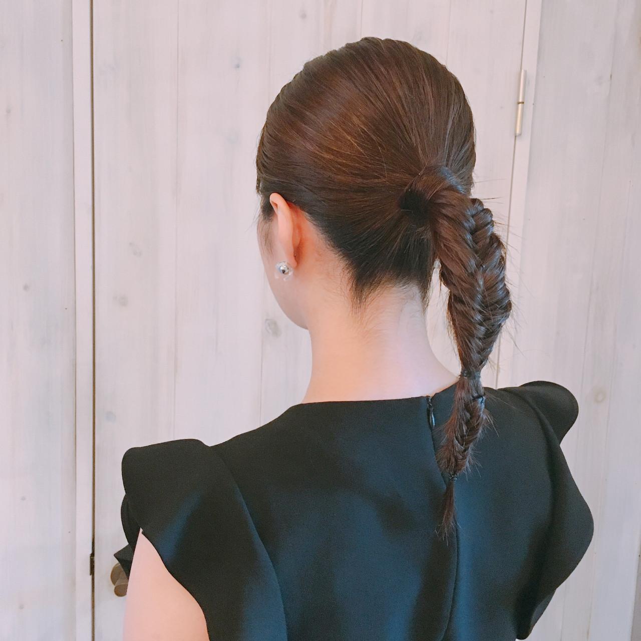 フィッシュボーンのストレートポニーテール♪ 稲垣 嘉乃