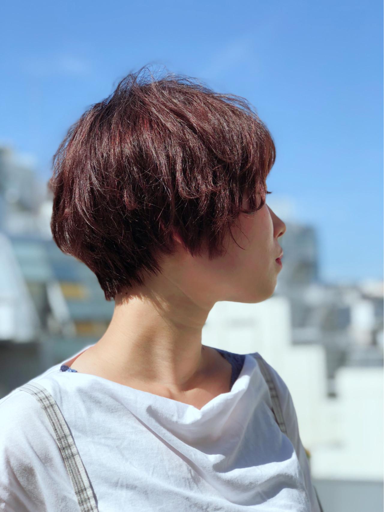 秋 冬 ショート マッシュ ヘアスタイルや髪型の写真・画像