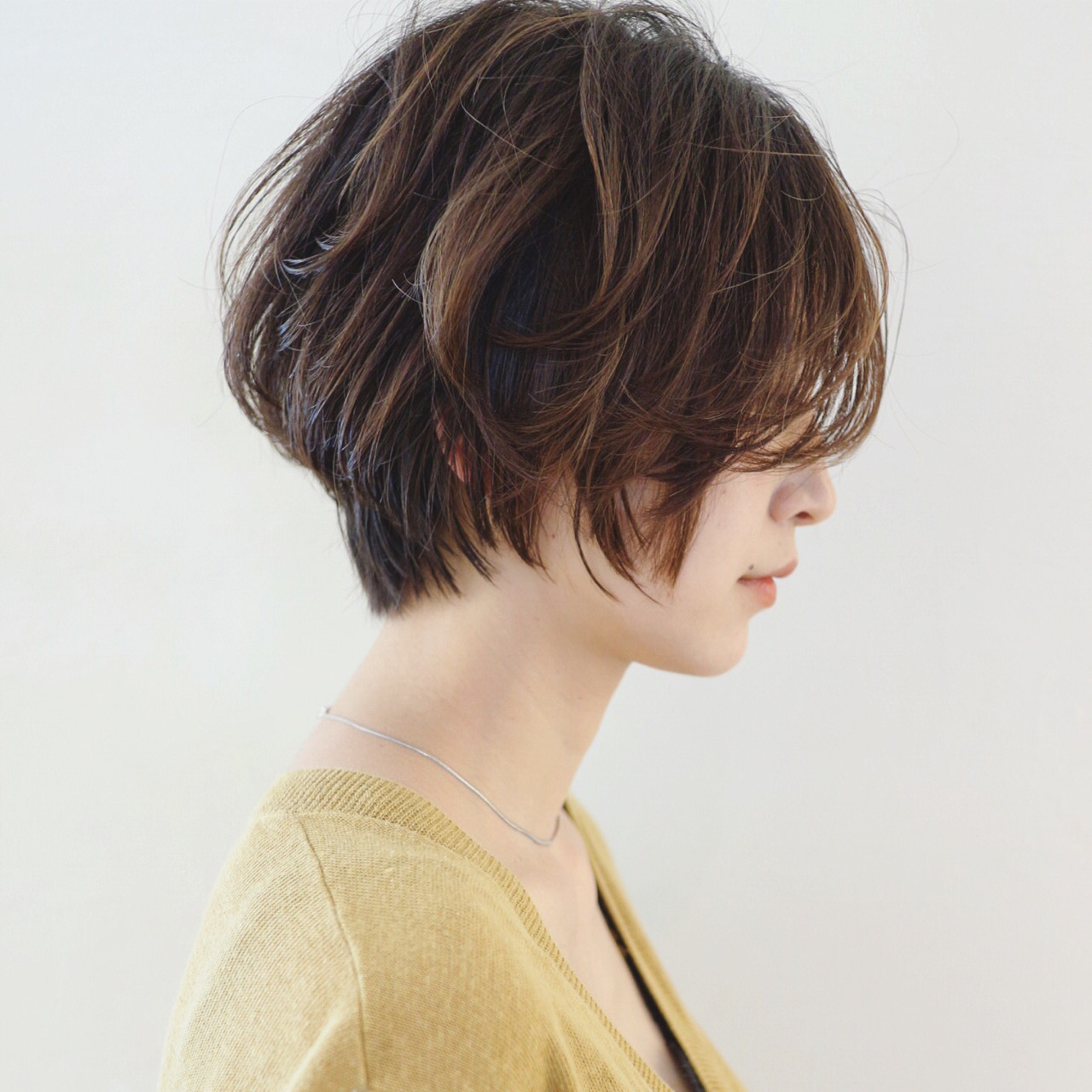 ナチュラル グラデーションカラー ショート バレイヤージュ ヘアスタイルや髪型の写真・画像