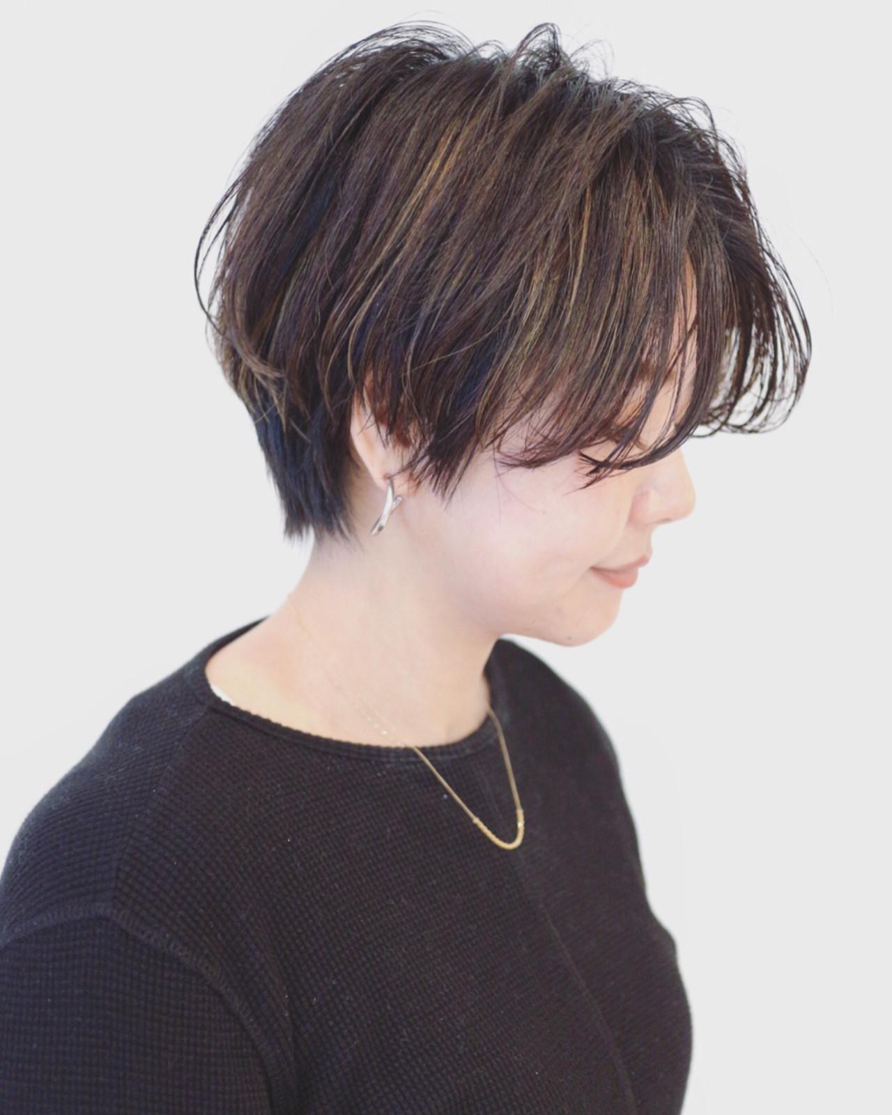 ストリート ブルーアッシュ 外国人風 暗髪 ヘアスタイルや髪型の写真・画像