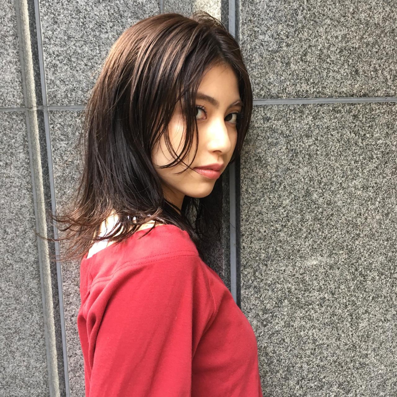 簡単ヘアアレンジ ナチュラル デート 透明感 ヘアスタイルや髪型の写真・画像