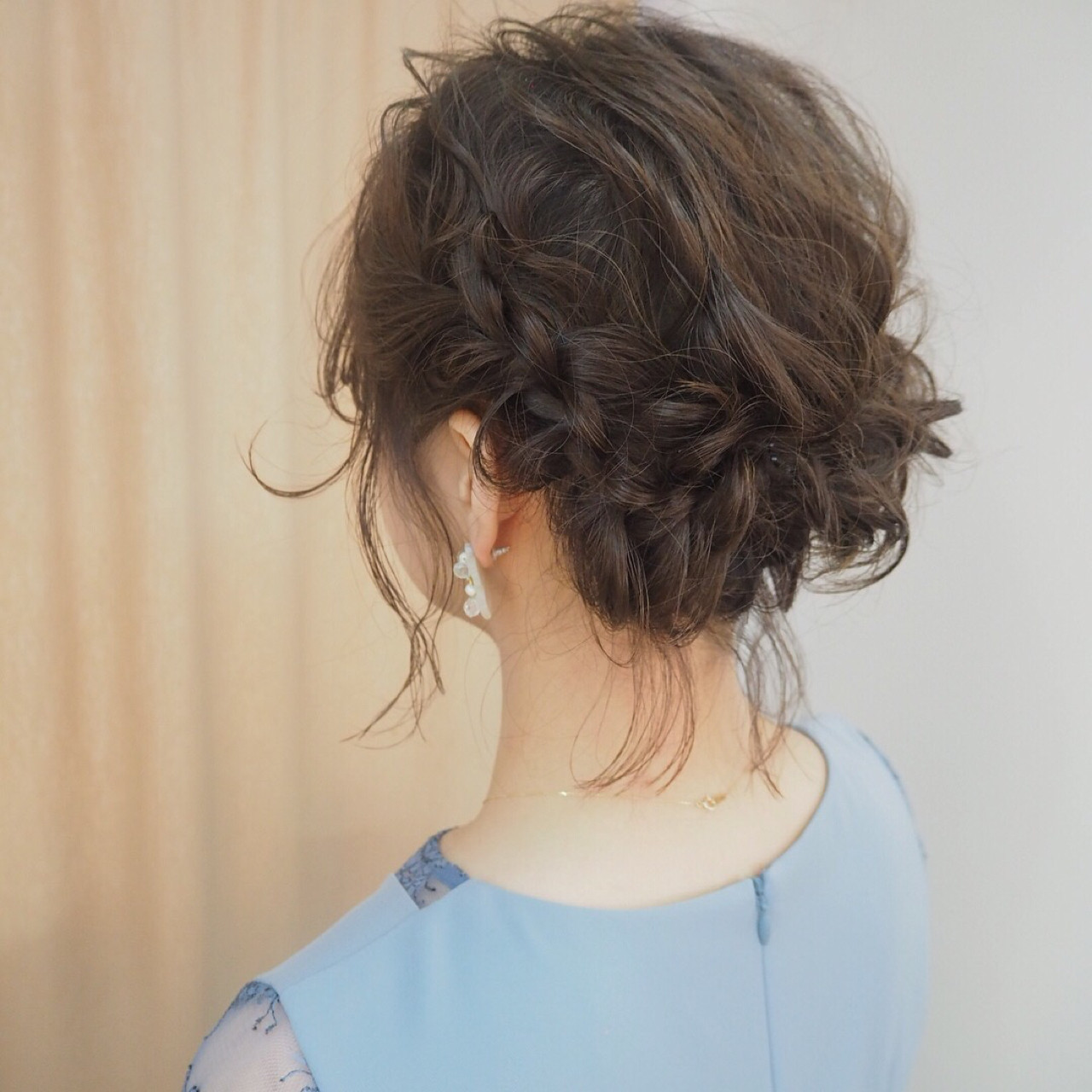 デート 結婚式 ナチュラル ボブ ヘアスタイルや髪型の写真・画像