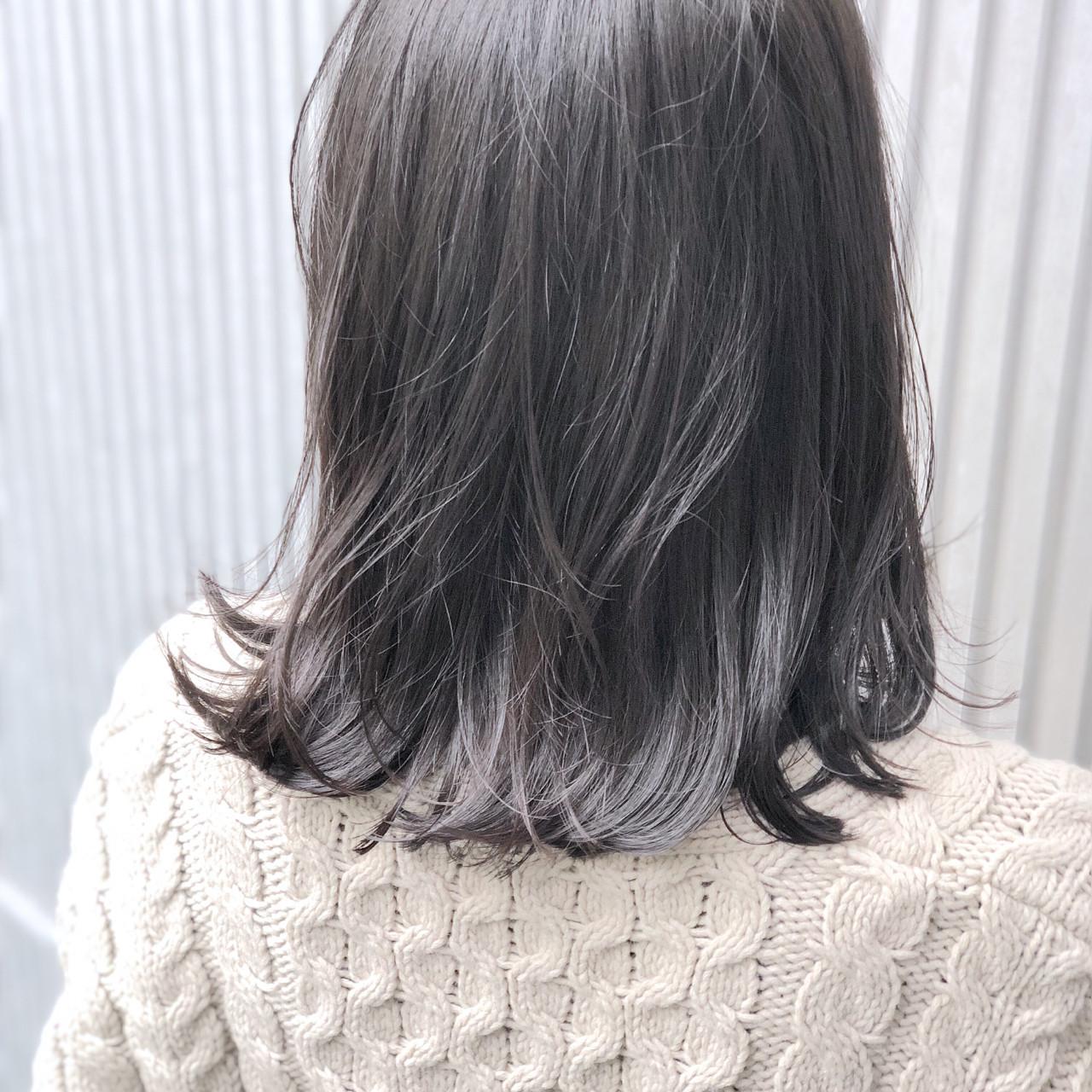 前髪あり ナチュラル グレージュ 女子力 ヘアスタイルや髪型の写真・画像