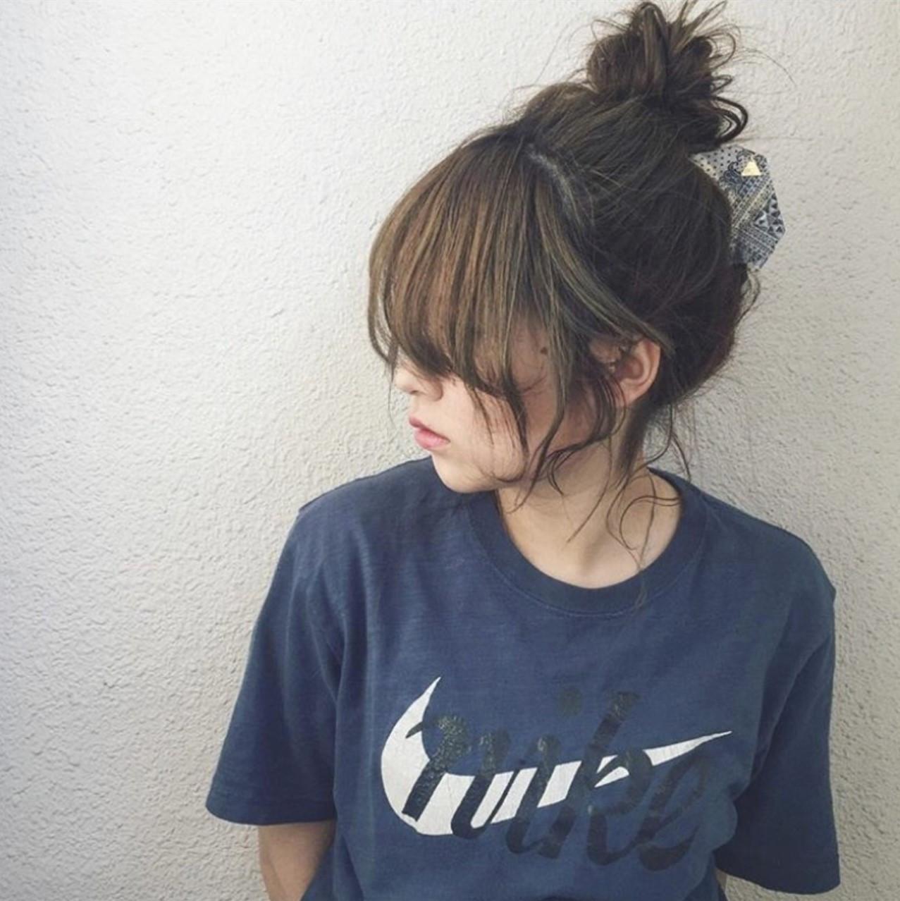 ナチュラル ヘアアレンジ ロング シニヨン ヘアスタイルや髪型の写真・画像