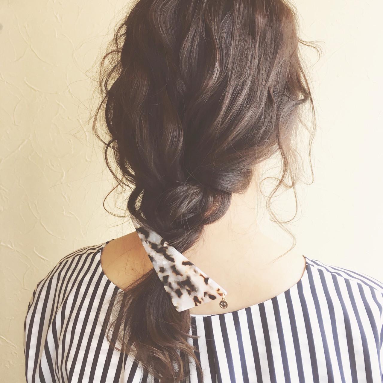 三角クリップ ナチュラル ヘアクリップ デート ヘアスタイルや髪型の写真・画像