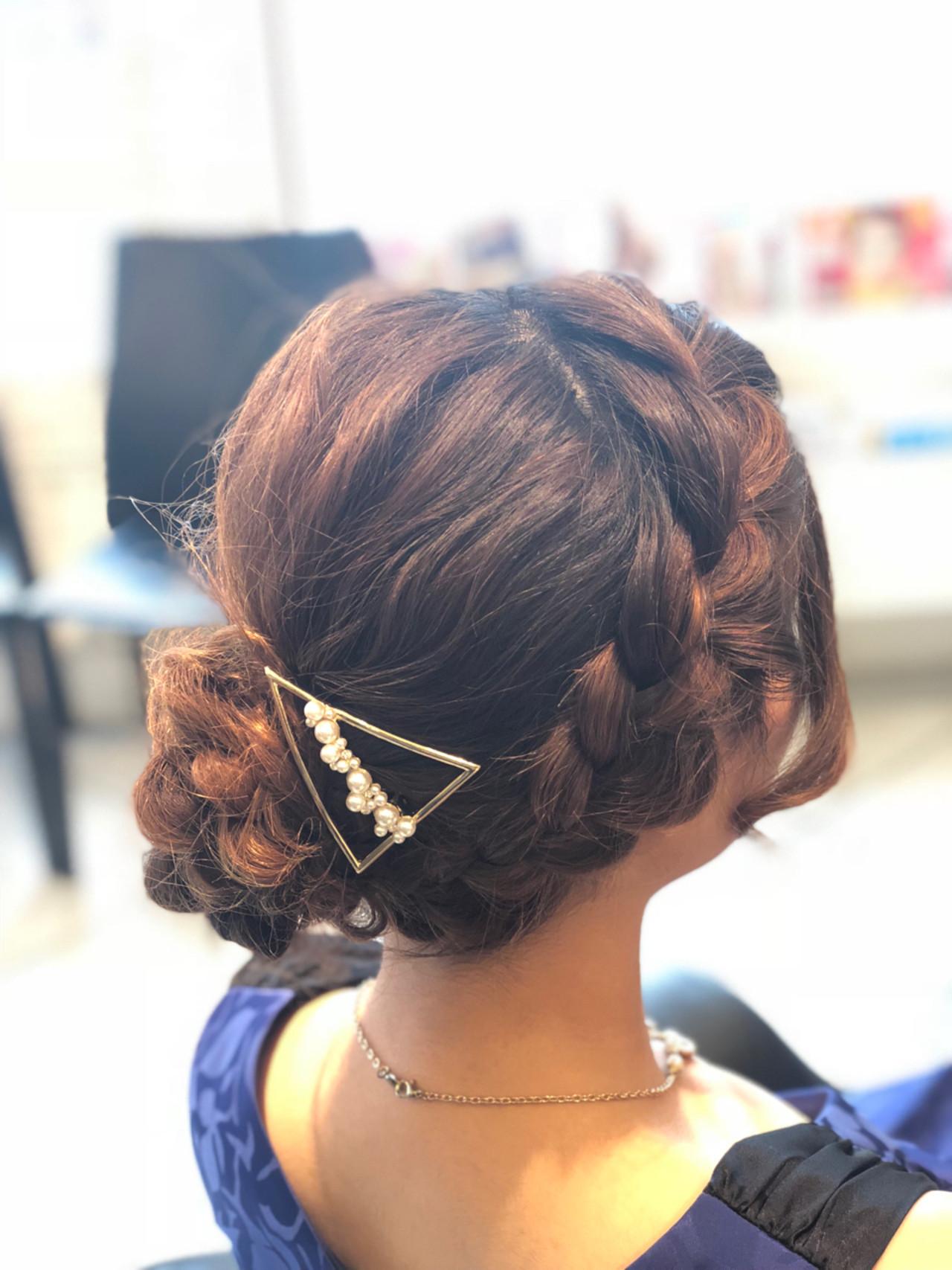 結婚式 ナチュラル パーティ ミディアム ヘアスタイルや髪型の写真・画像