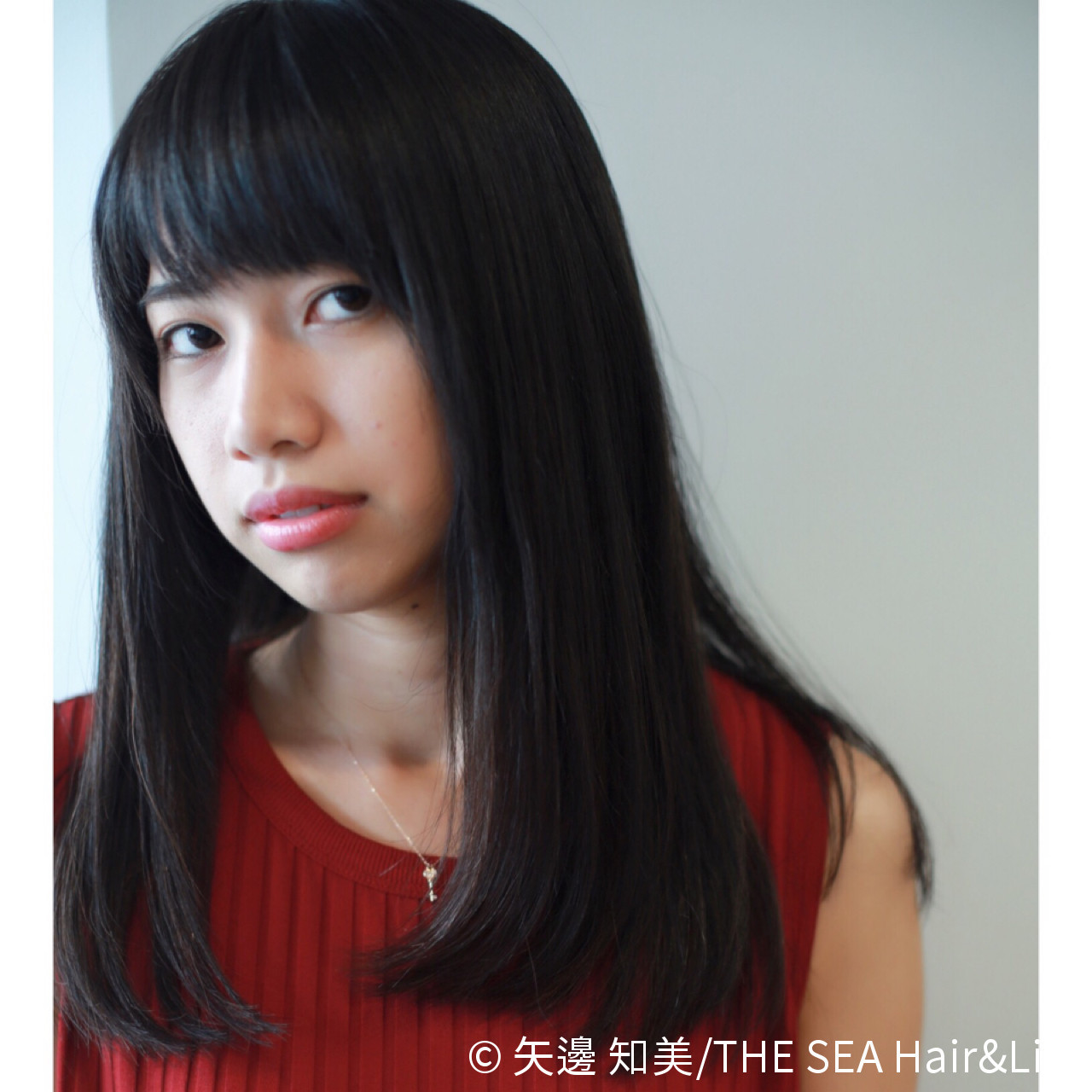 黒髪 小顔 モード 大人かわいい ヘアスタイルや髪型の写真・画像