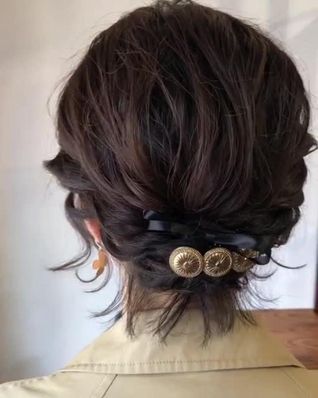 ボブ 結婚式 成人式 パーティ ヘアスタイルや髪型の写真・画像