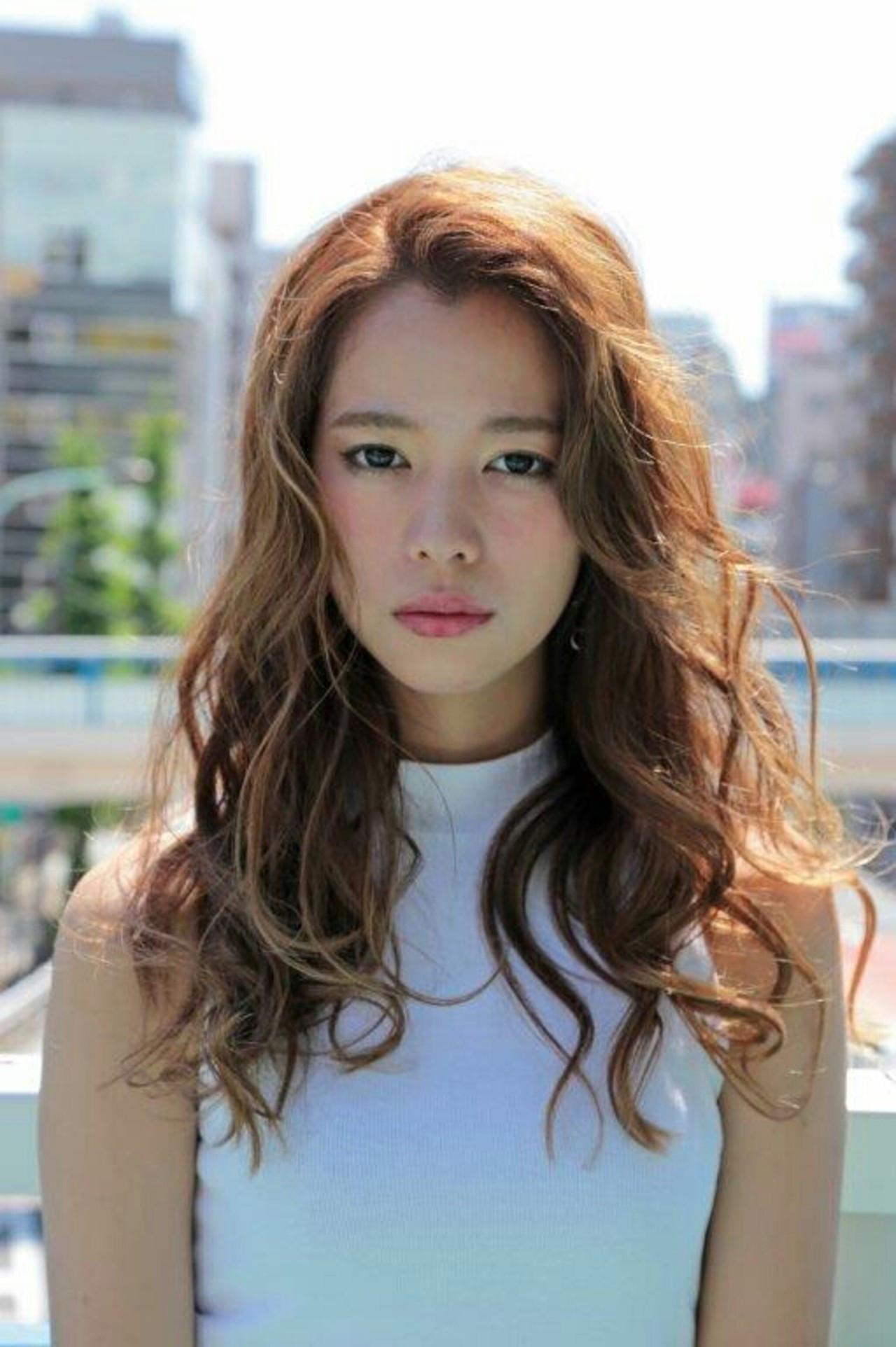 モード フェミニン 外国人風 ロング ヘアスタイルや髪型の写真・画像