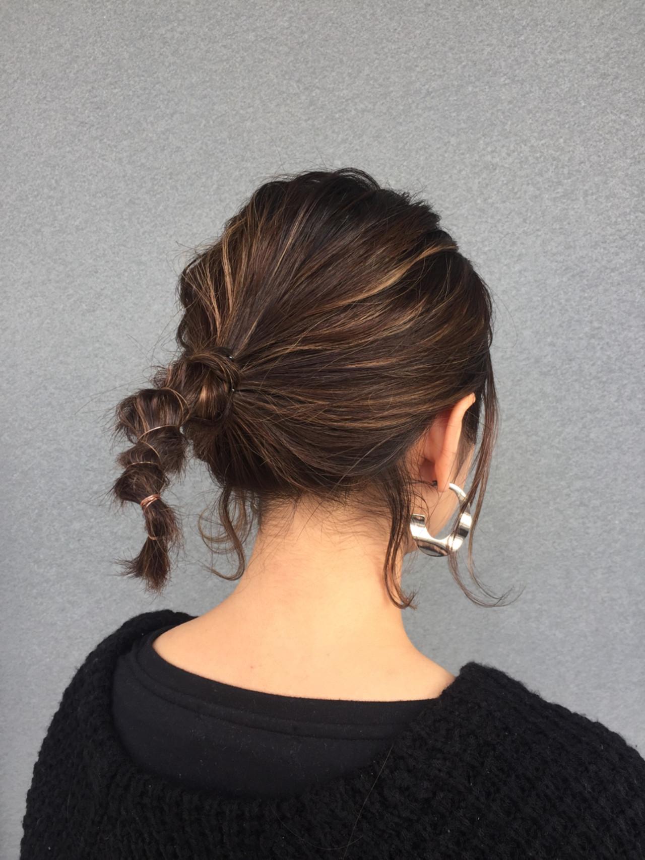 ナチュラル ショート ヘアアレンジ デート ヘアスタイルや髪型の写真・画像