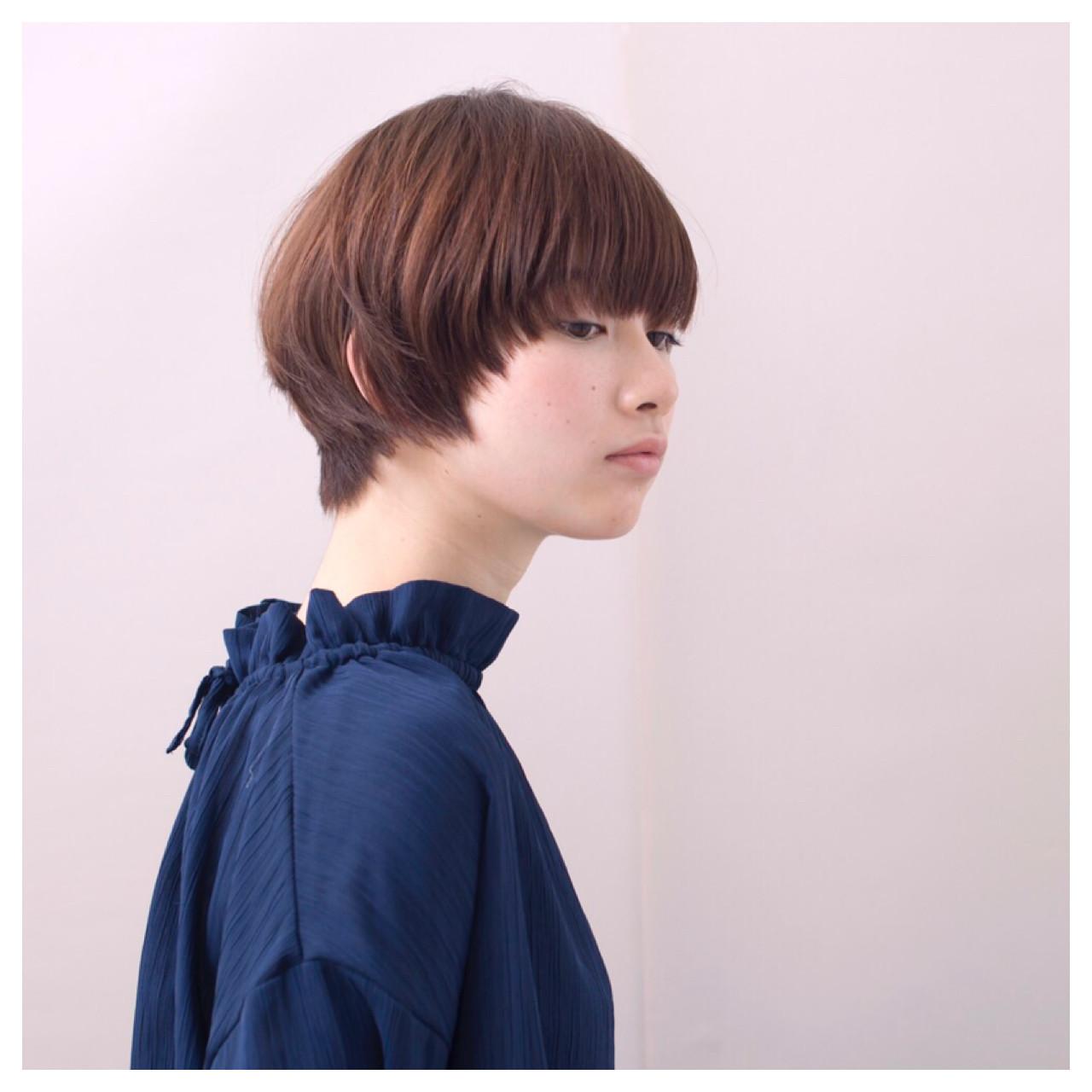 マッシュ 外国人風 ガーリー マニッシュ ヘアスタイルや髪型の写真・画像