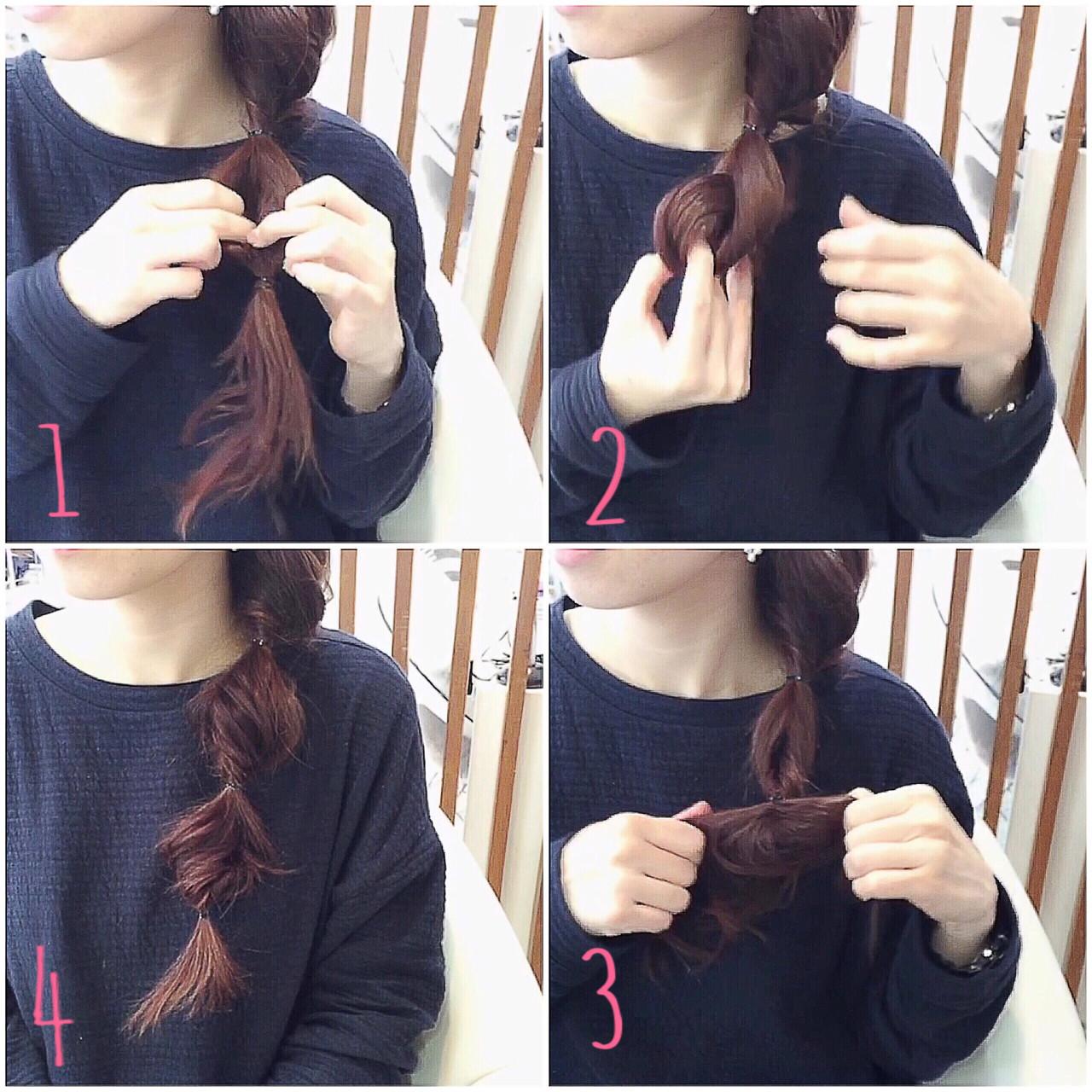 ゆるふわ ショート 簡単ヘアアレンジ ロング ヘアスタイルや髪型の写真・画像