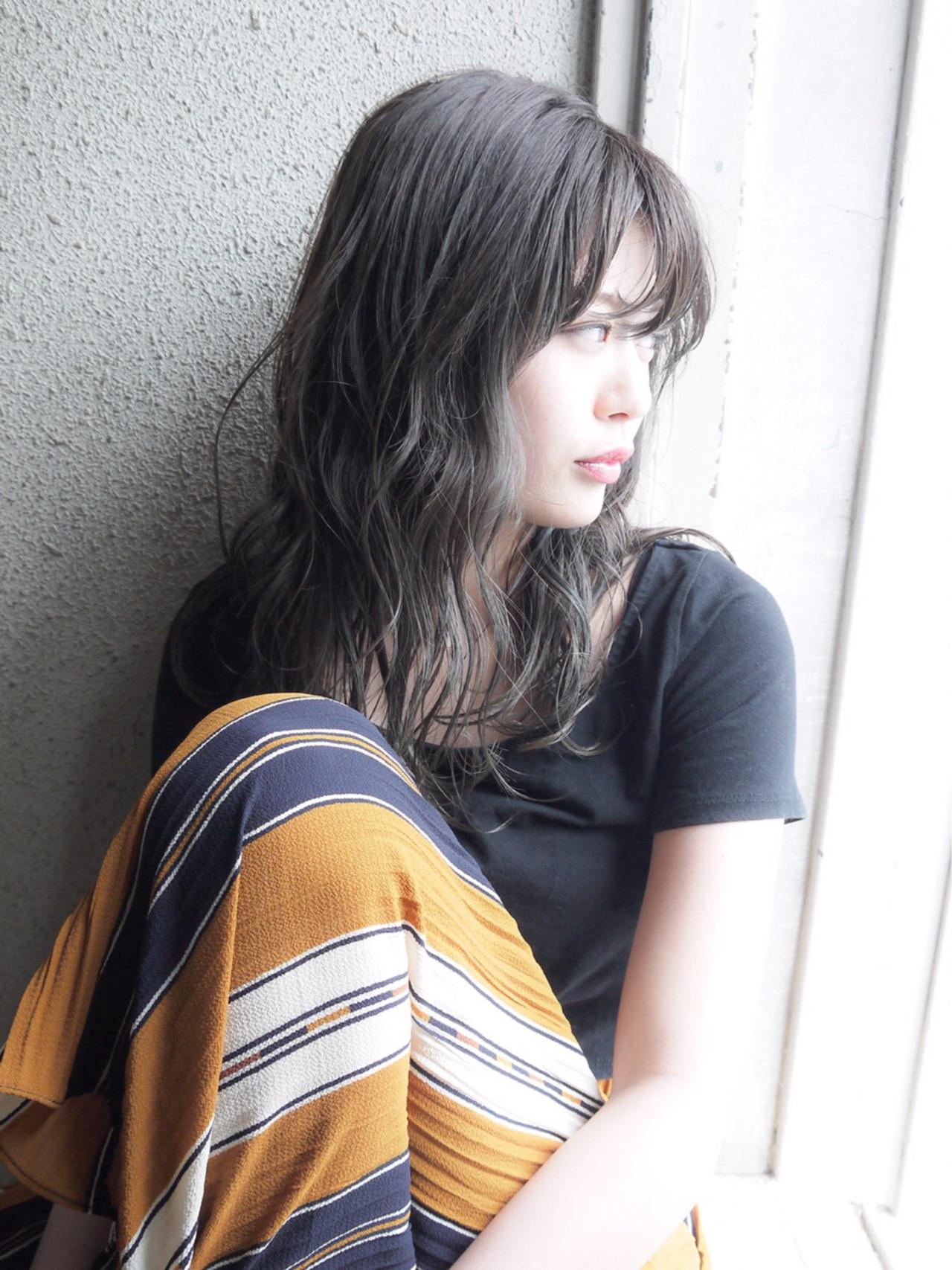 セミロング グレージュ コンサバ 大人かわいい ヘアスタイルや髪型の写真・画像
