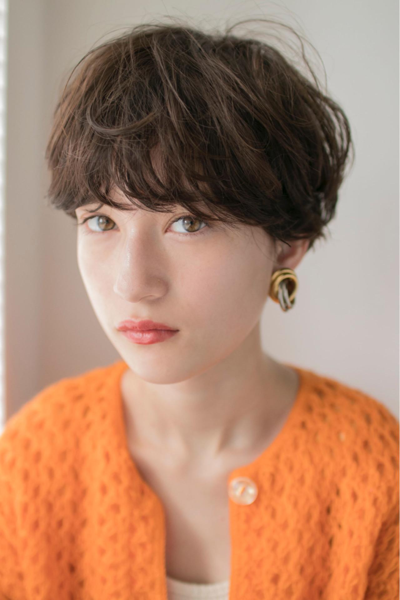 ヘアアレンジ マッシュ ショート モード ヘアスタイルや髪型の写真・画像