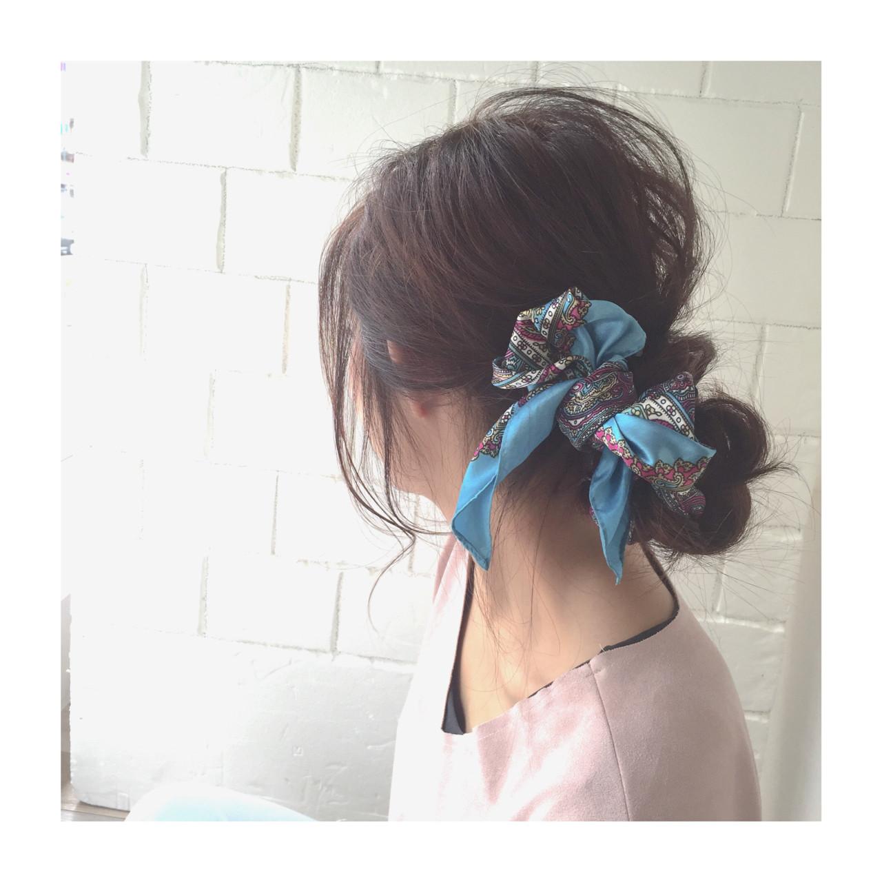 ヘアアレンジ ロング シニヨン ヘアアクセ ヘアスタイルや髪型の写真・画像