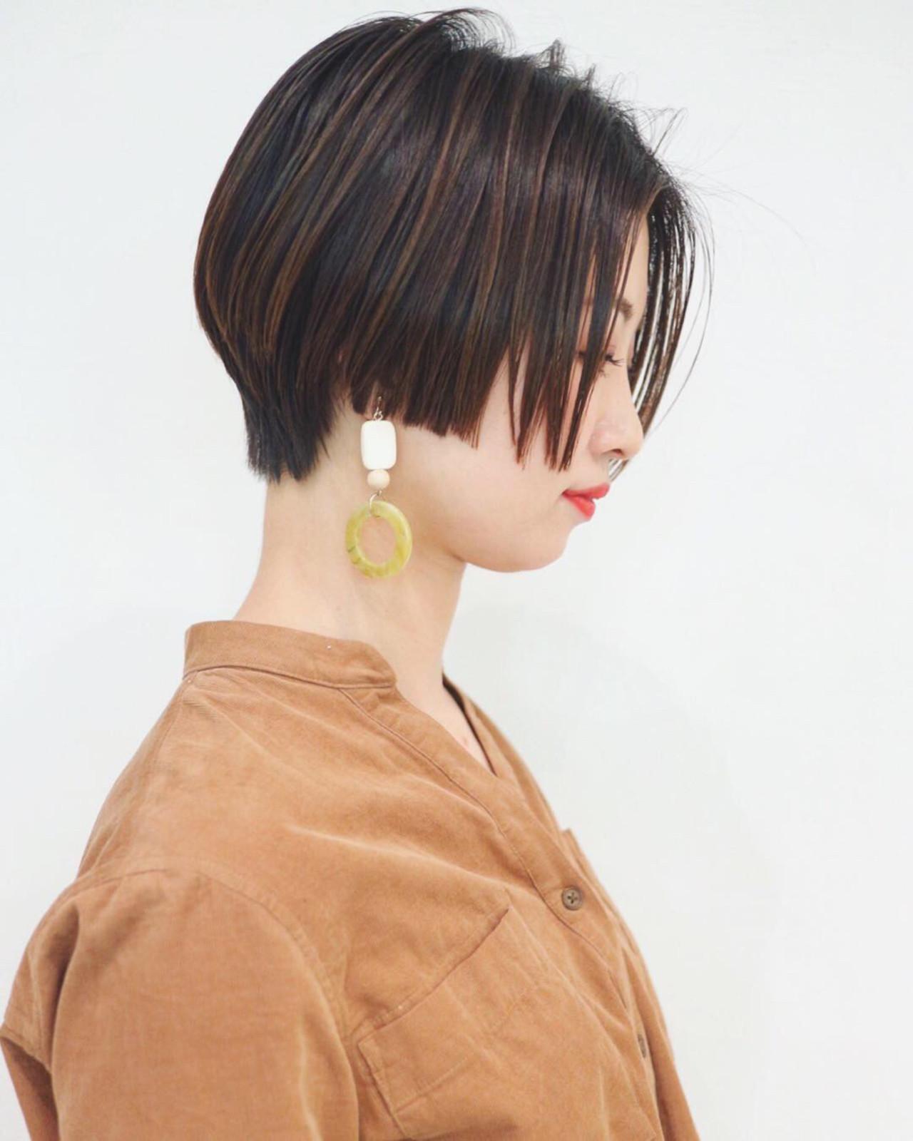 横顔が美しいショートボブ 三好 佳奈美  Baco.(バコ)