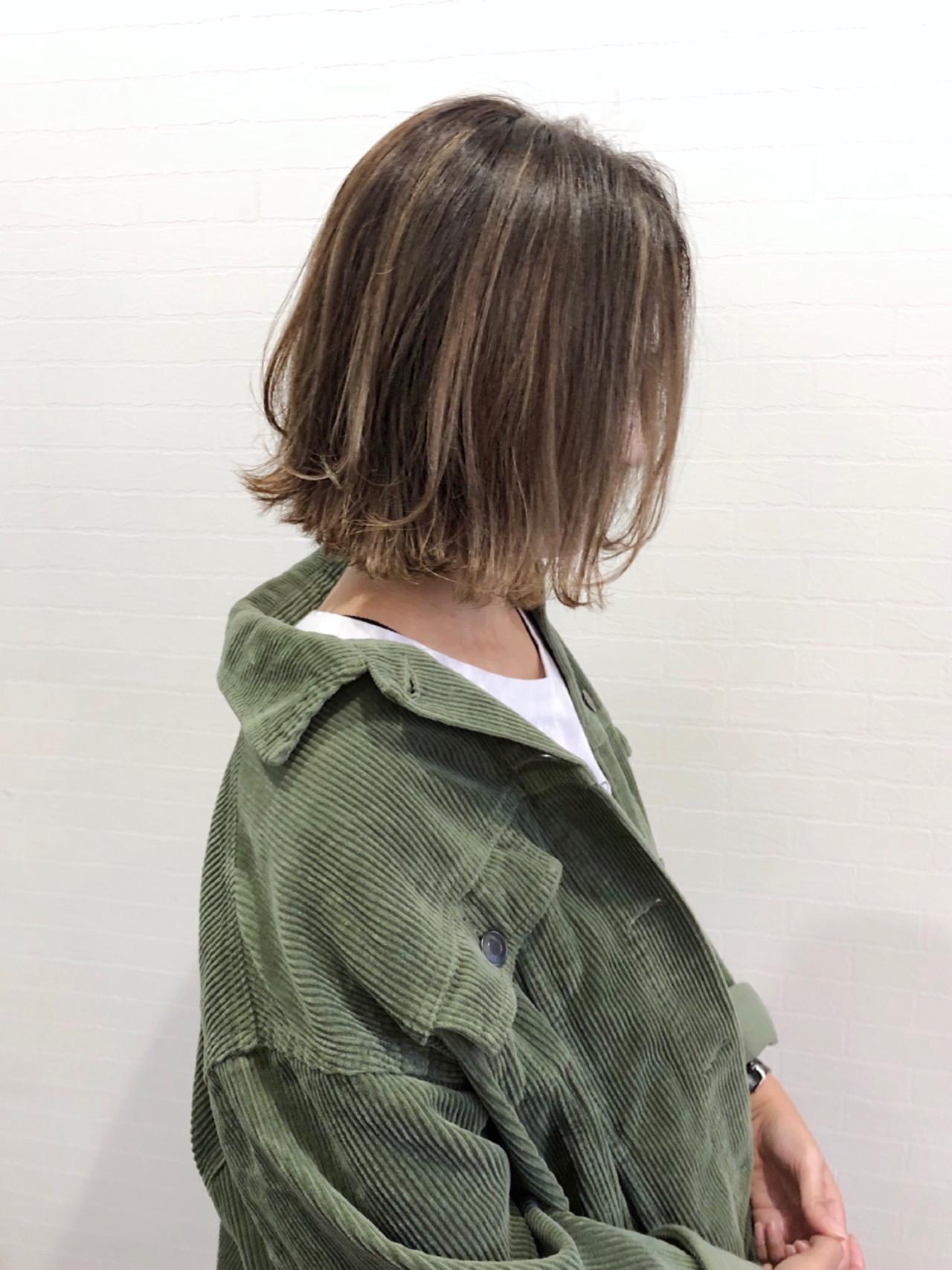 グレージュ 外国人風 ストリート ボブ ヘアスタイルや髪型の写真・画像