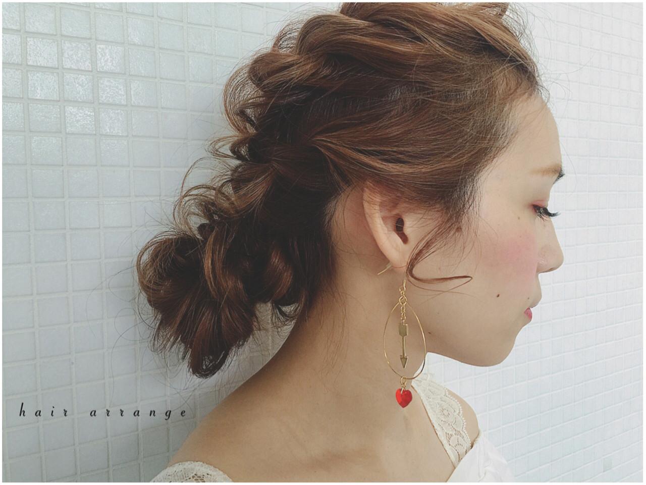 ヘアアレンジ 大人かわいい フェミニン 簡単ヘアアレンジ ヘアスタイルや髪型の写真・画像