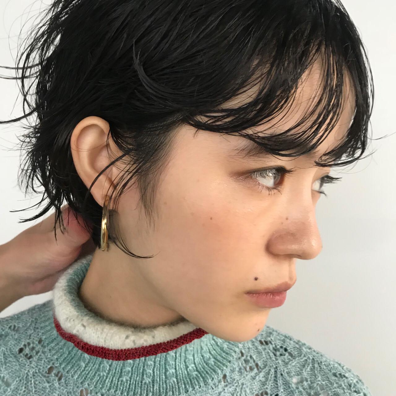 大人女子 前髪パーマ ナチュラル ショートボブ ヘアスタイルや髪型の写真・画像