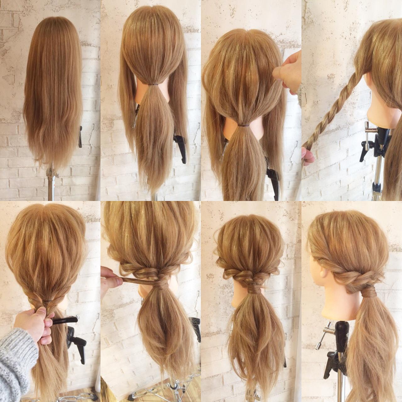ゆるふわ ポニーテール ヘアアレンジ 簡単ヘアアレンジ ヘアスタイルや髪型の写真・画像