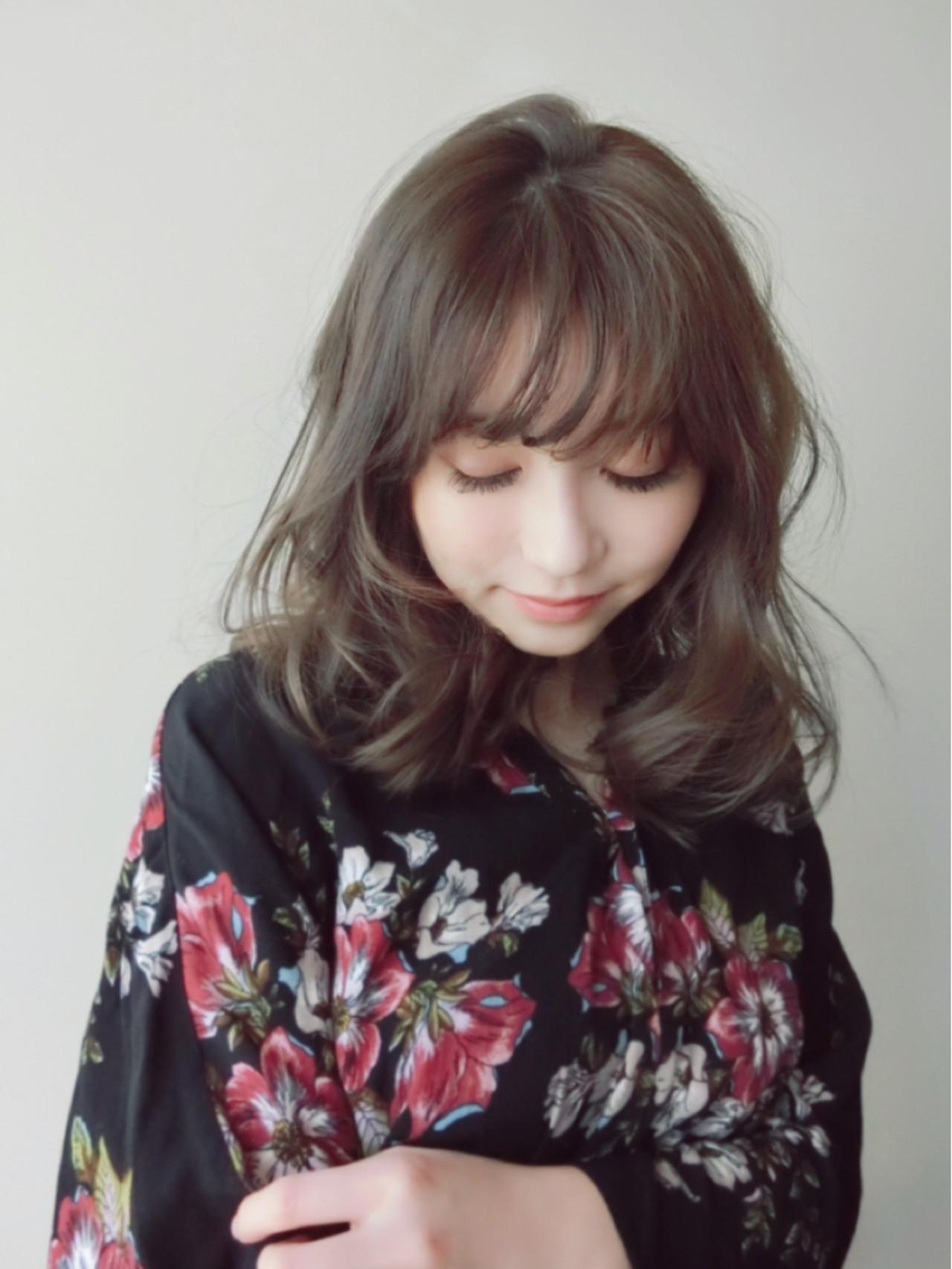 ふんわりがステキ♡女性らしいシルエットヘア 尾花 佑輔