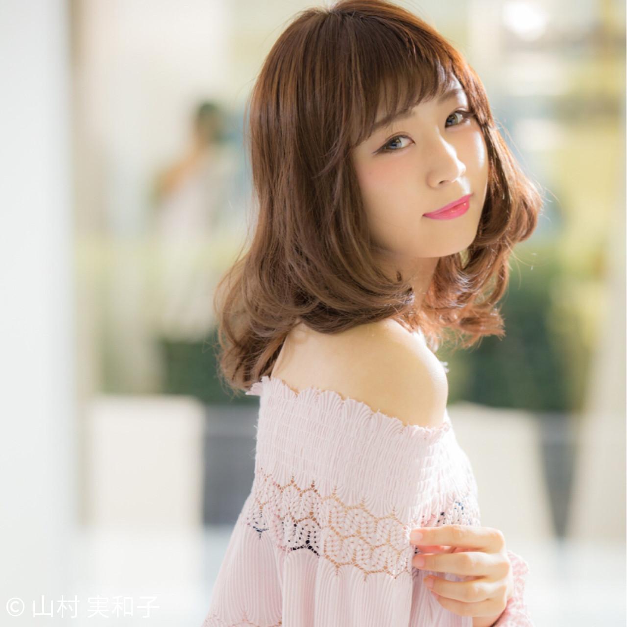 【ミディアム】ふわっふわでフェミニン♡ 山村 実和子