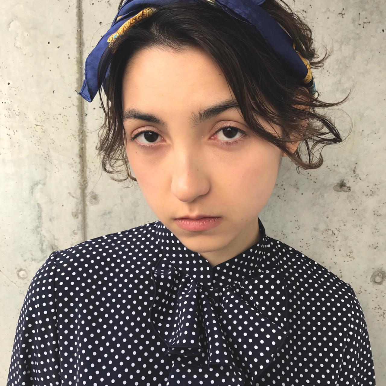 スカーフで!ヘアバンド風アレンジ 小西敬二郎