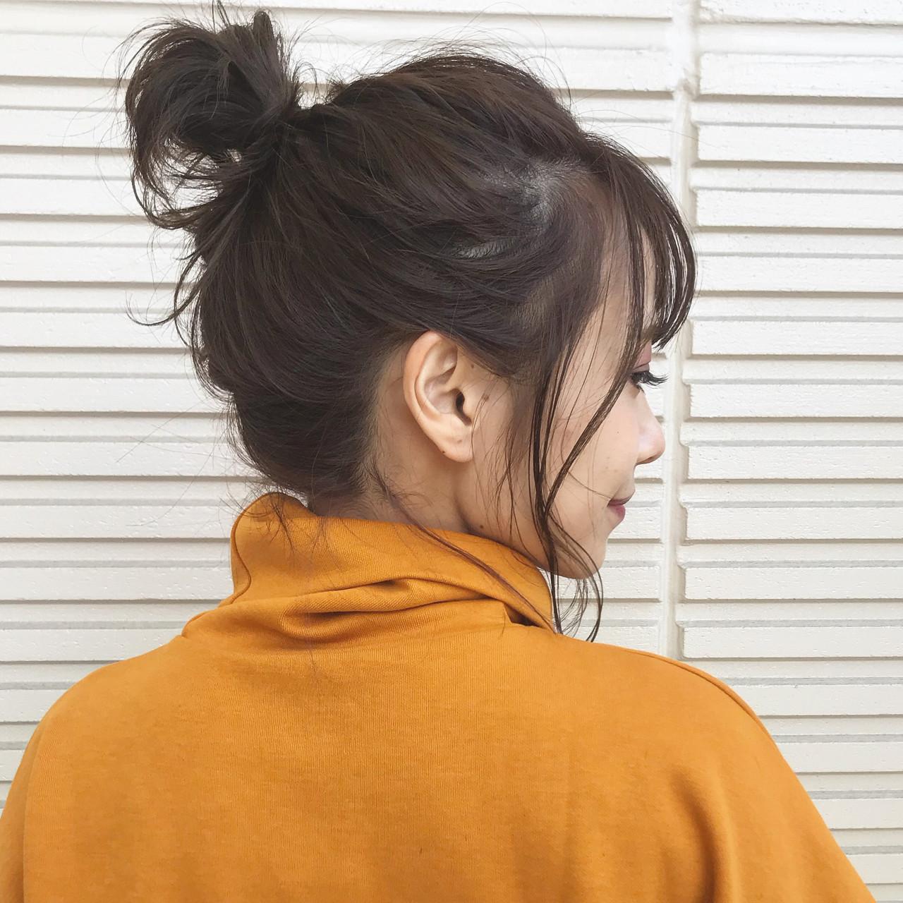 ヘアアレンジ 簡単ヘアアレンジ フェミニン ボブ ヘアスタイルや髪型の写真・画像