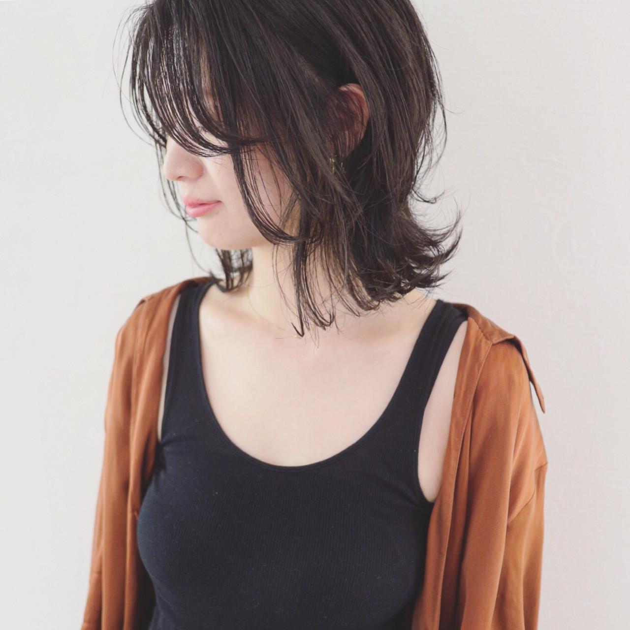 ナチュラルな外ハネ黒髪ボブ 三好 佳奈美  Baco.(バコ)