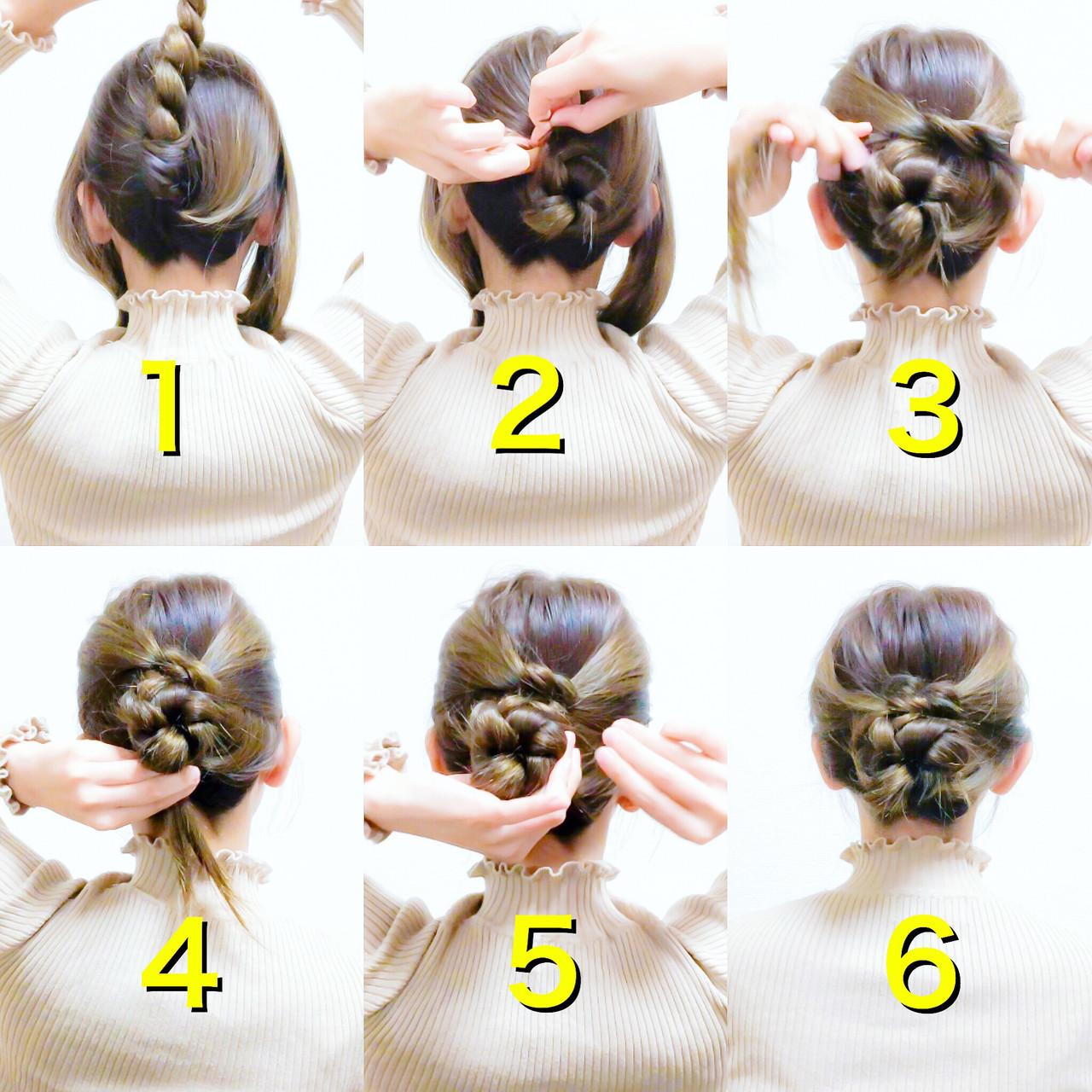 上品 簡単ヘアアレンジ セルフヘアアレンジ ヘアアレンジ ヘアスタイルや髪型の写真・画像