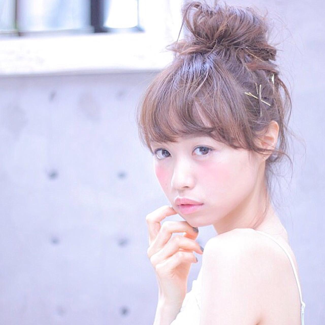 ロング 女子会 メッシーバン リラックス ヘアスタイルや髪型の写真・画像