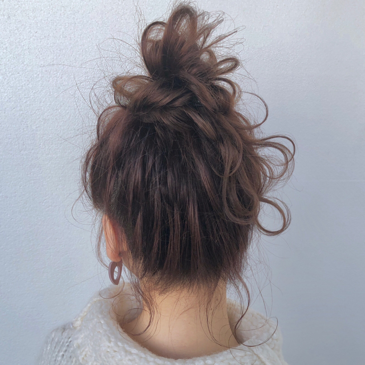 お団子 簡単 ガーリー 簡単ヘアアレンジ ヘアスタイルや髪型の写真・画像