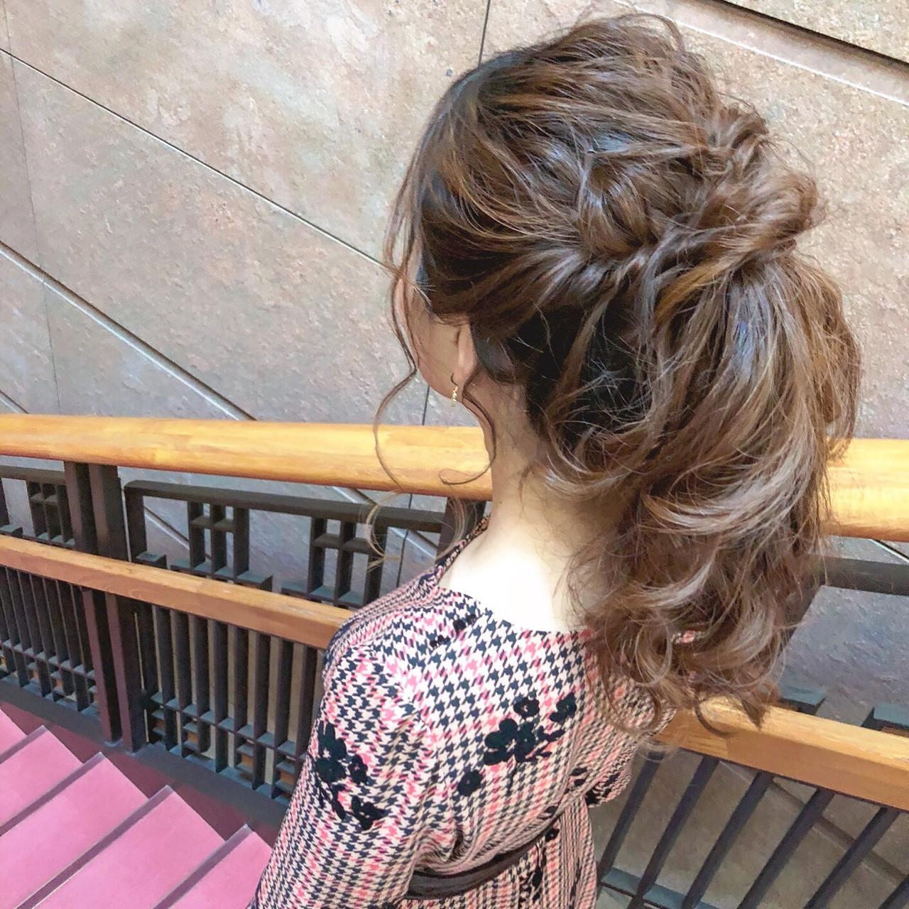 ポニーテール ロング 簡単ヘアアレンジ ショート ヘアスタイルや髪型の写真・画像