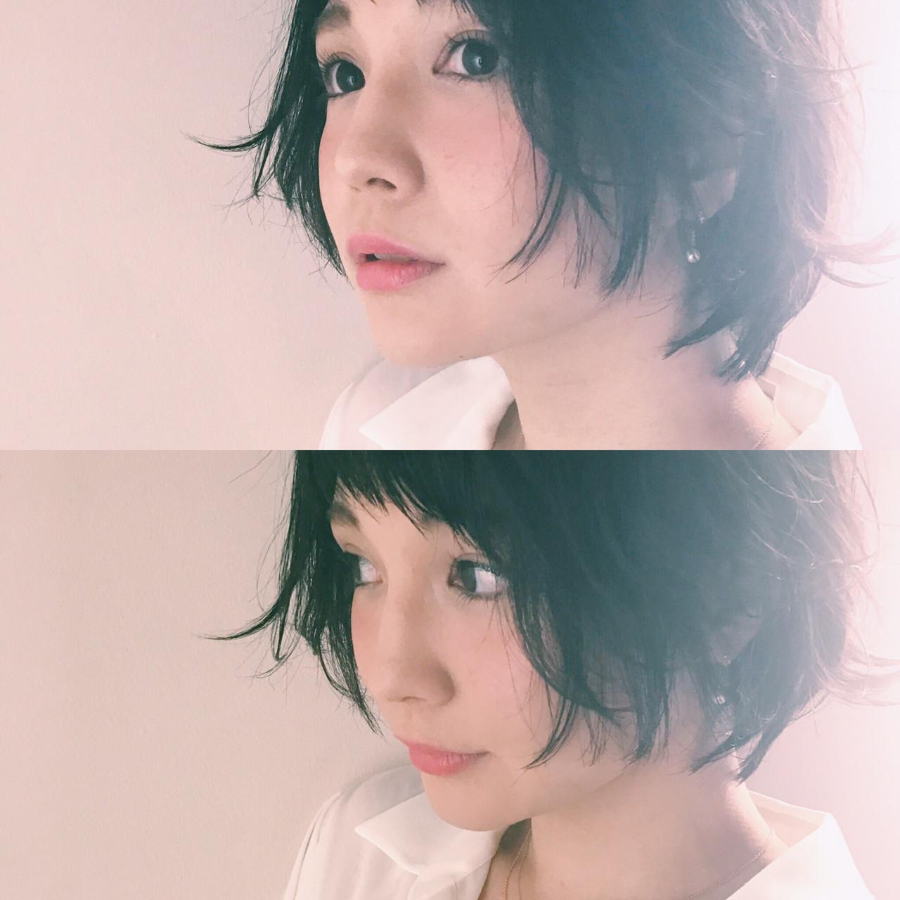 小顔 ベビーバング かわいい ショートバング ヘアスタイルや髪型の写真・画像