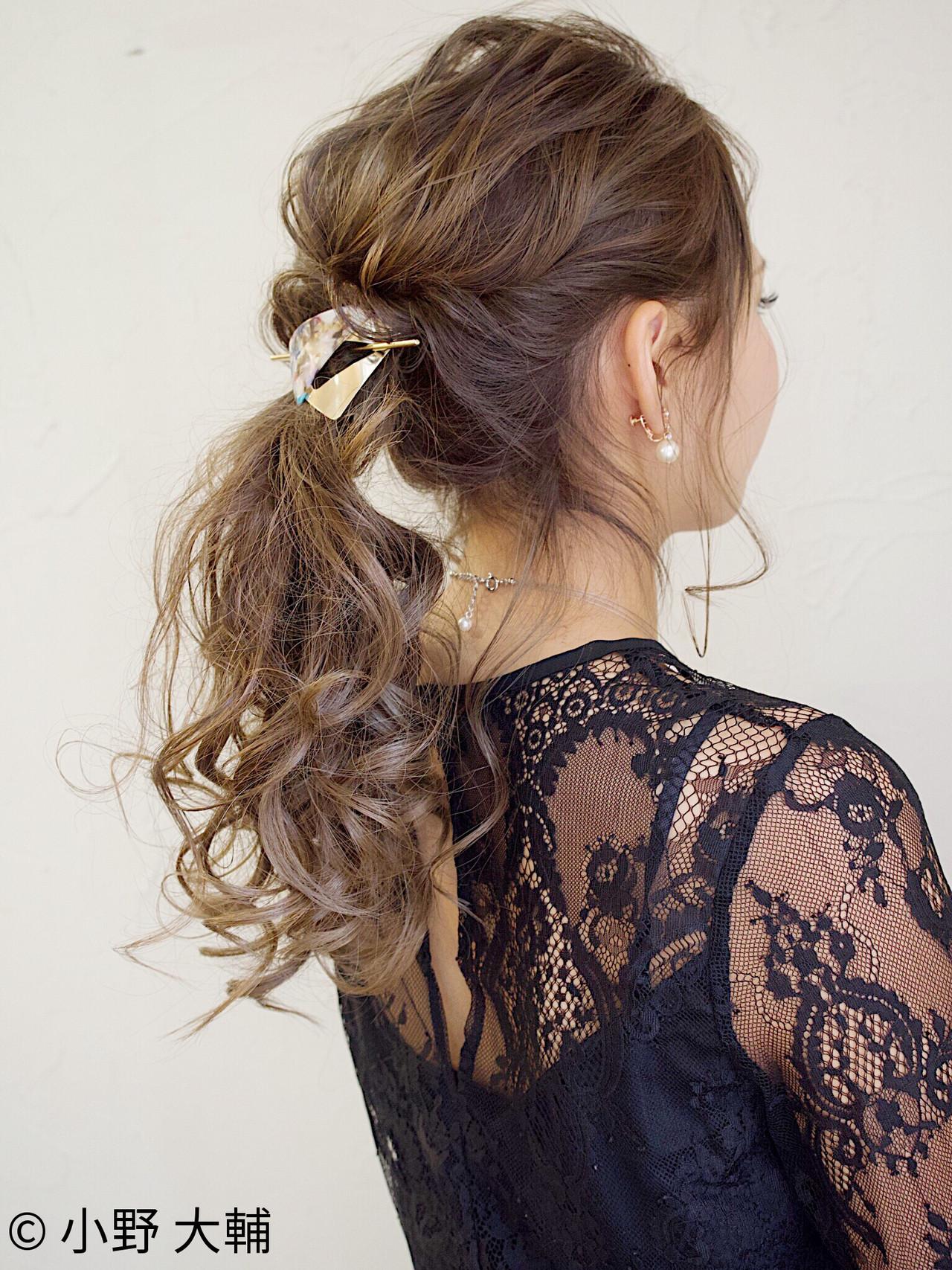 ロング ヘアアレンジ 結婚式 ナチュラル ヘアスタイルや髪型の写真・画像