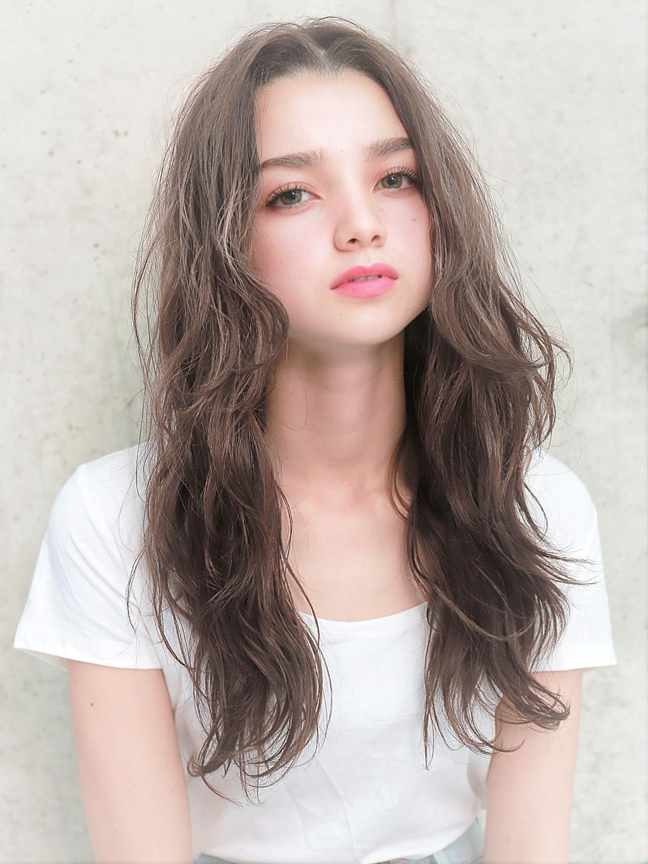 モテ髪 ロング フェミニン ゆるふわ ヘアスタイルや髪型の写真・画像