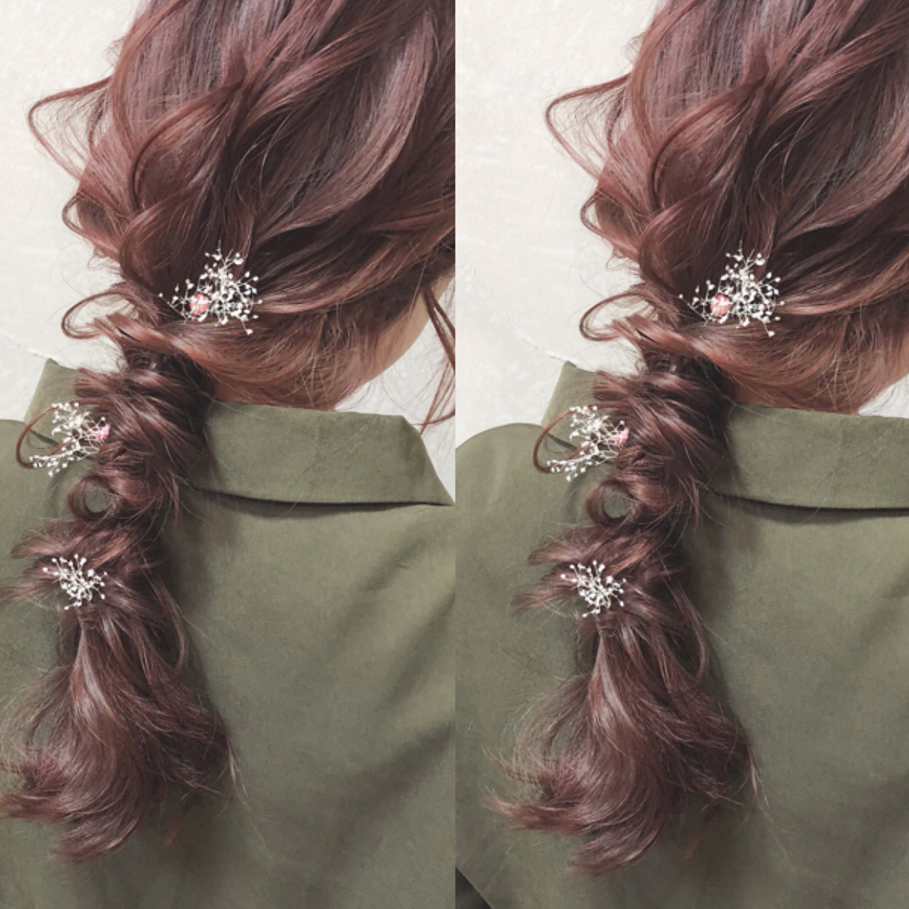 アンニュイほつれヘア 編み込み ナチュラル 大人かわいい ヘアスタイルや髪型の写真・画像