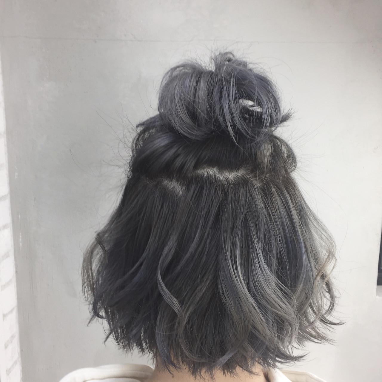 グレージュ 外国人風 ストリート ルーズ ヘアスタイルや髪型の写真・画像
