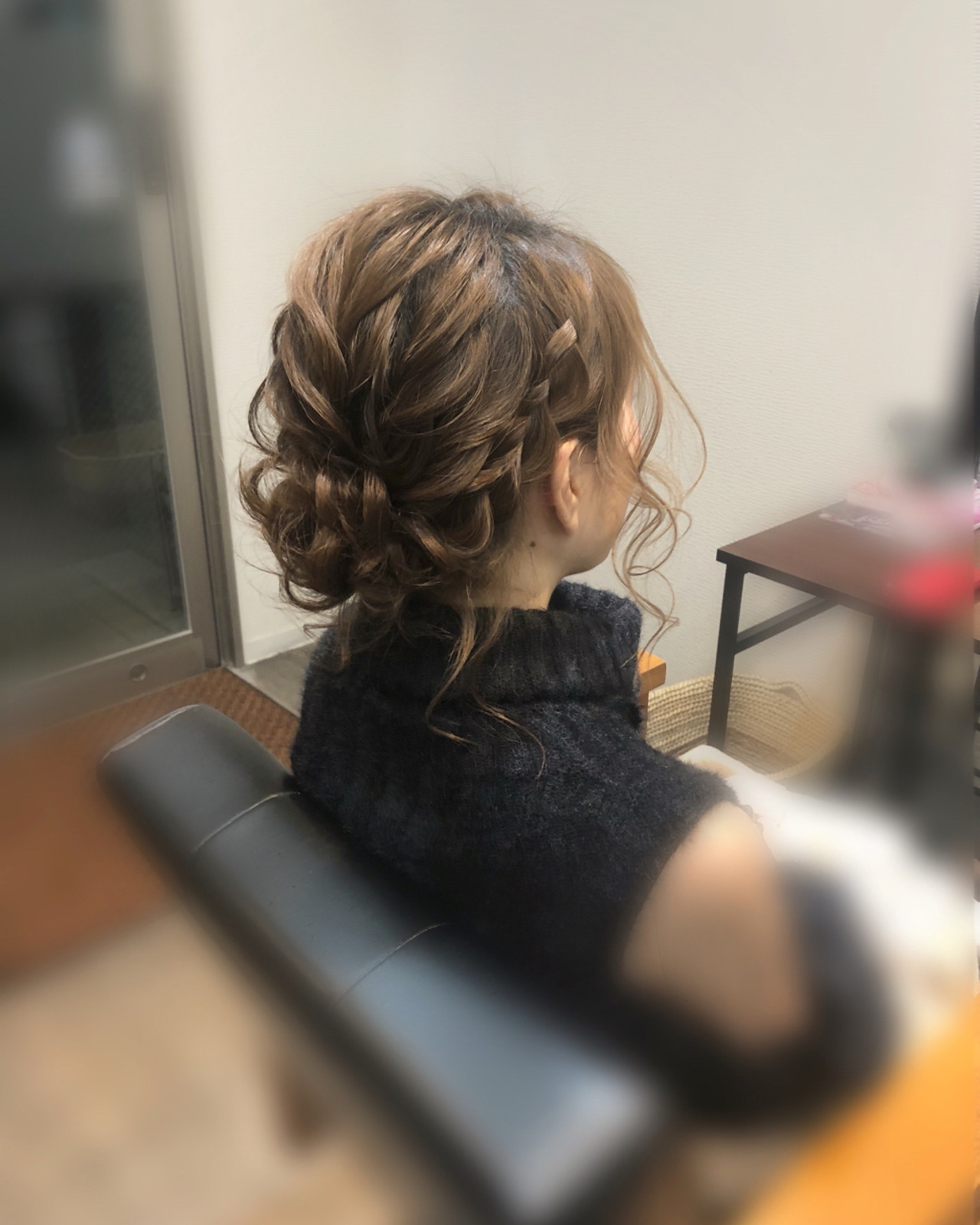 ボブ フェミニン ヘアアレンジ アップスタイル ヘアスタイルや髪型の写真・画像