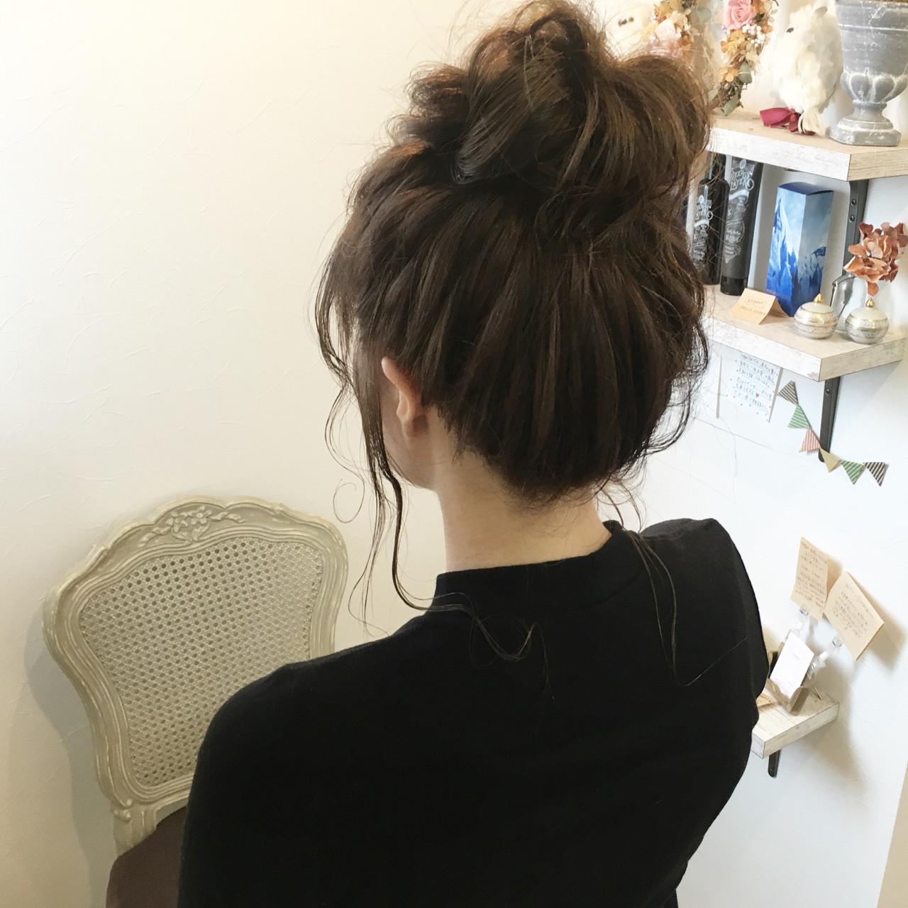 アッシュ 後れ毛 ナチュラル 簡単ヘアアレンジ ヘアスタイルや髪型の写真・画像