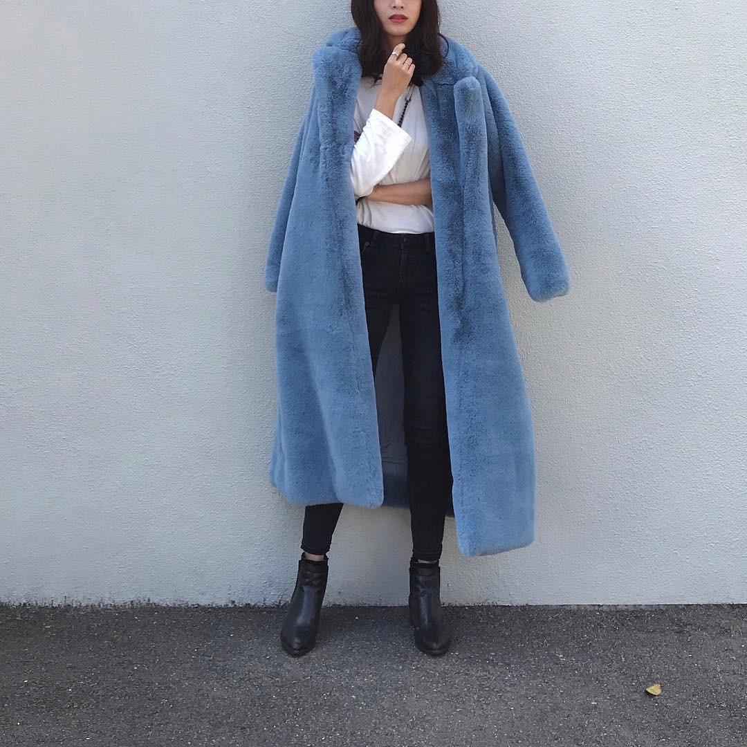 きれい色ロング丈コートでよそいきコーデ nagina001