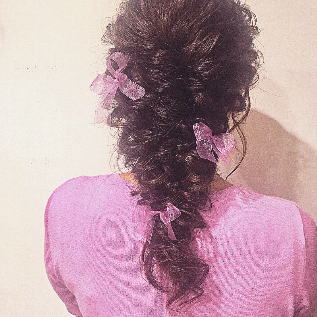 結婚式 ロング ヘアアレンジ フェミニン ヘアスタイルや髪型の写真・画像