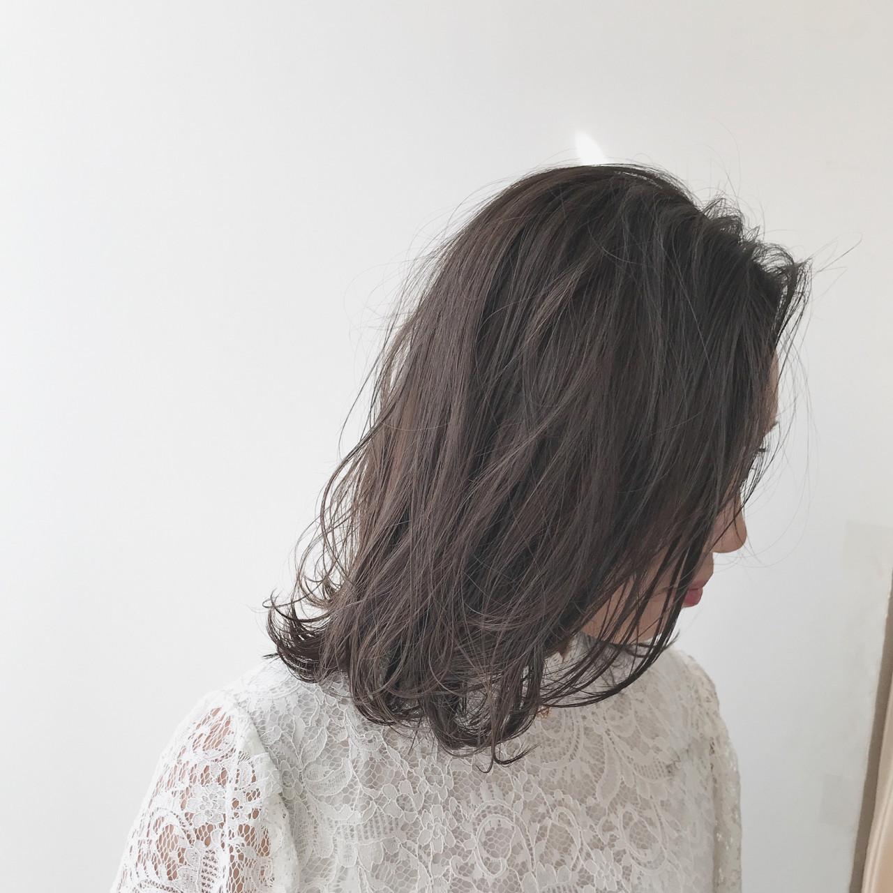ゆるふわ 暗髪 ヘアアレンジ ハイライト ヘアスタイルや髪型の写真・画像