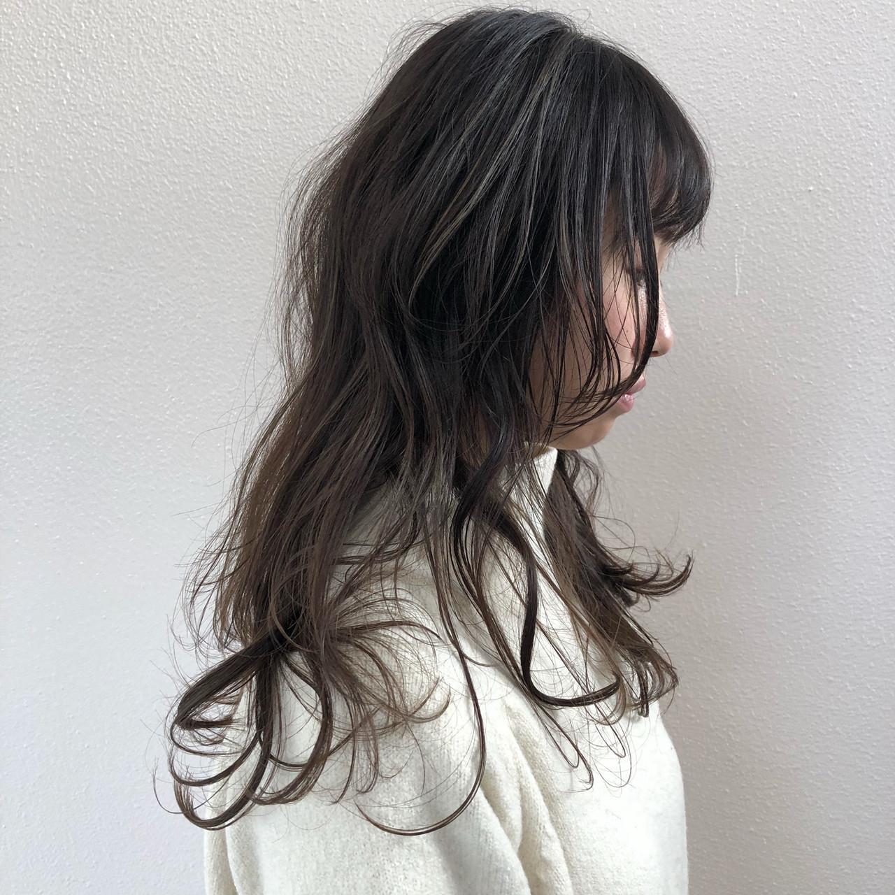ウルフカット グラデーションカラー ロング マッシュ ヘアスタイルや髪型の写真・画像