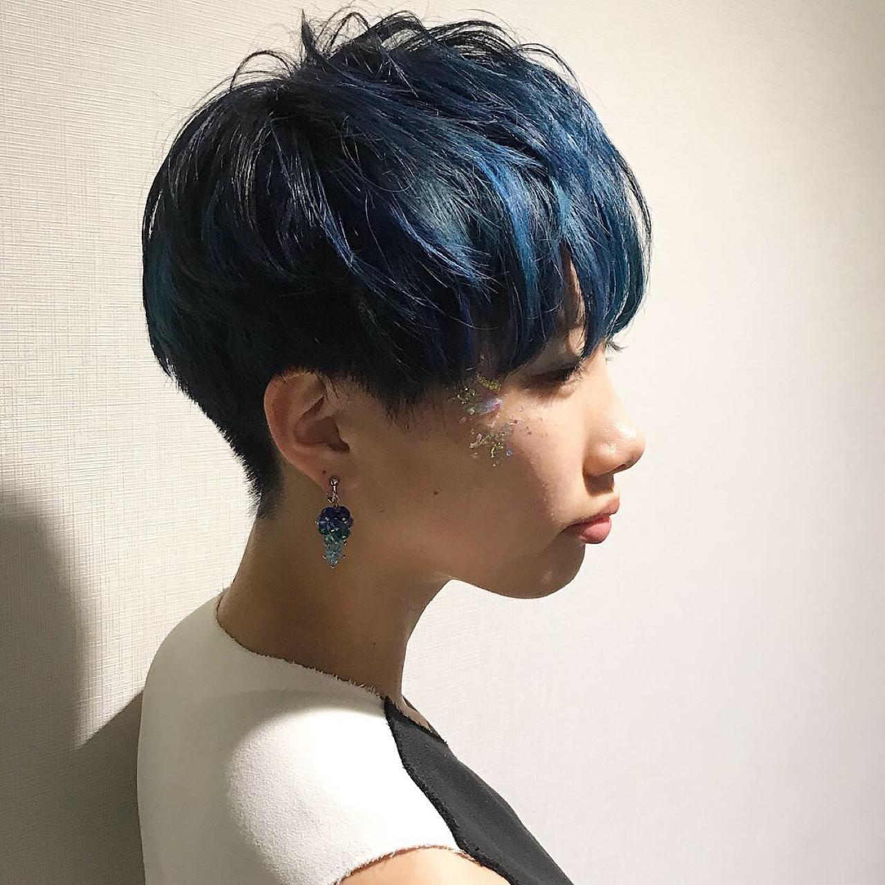 モード感満載のブルージュショート hirokazu takaki  Ash鴨居
