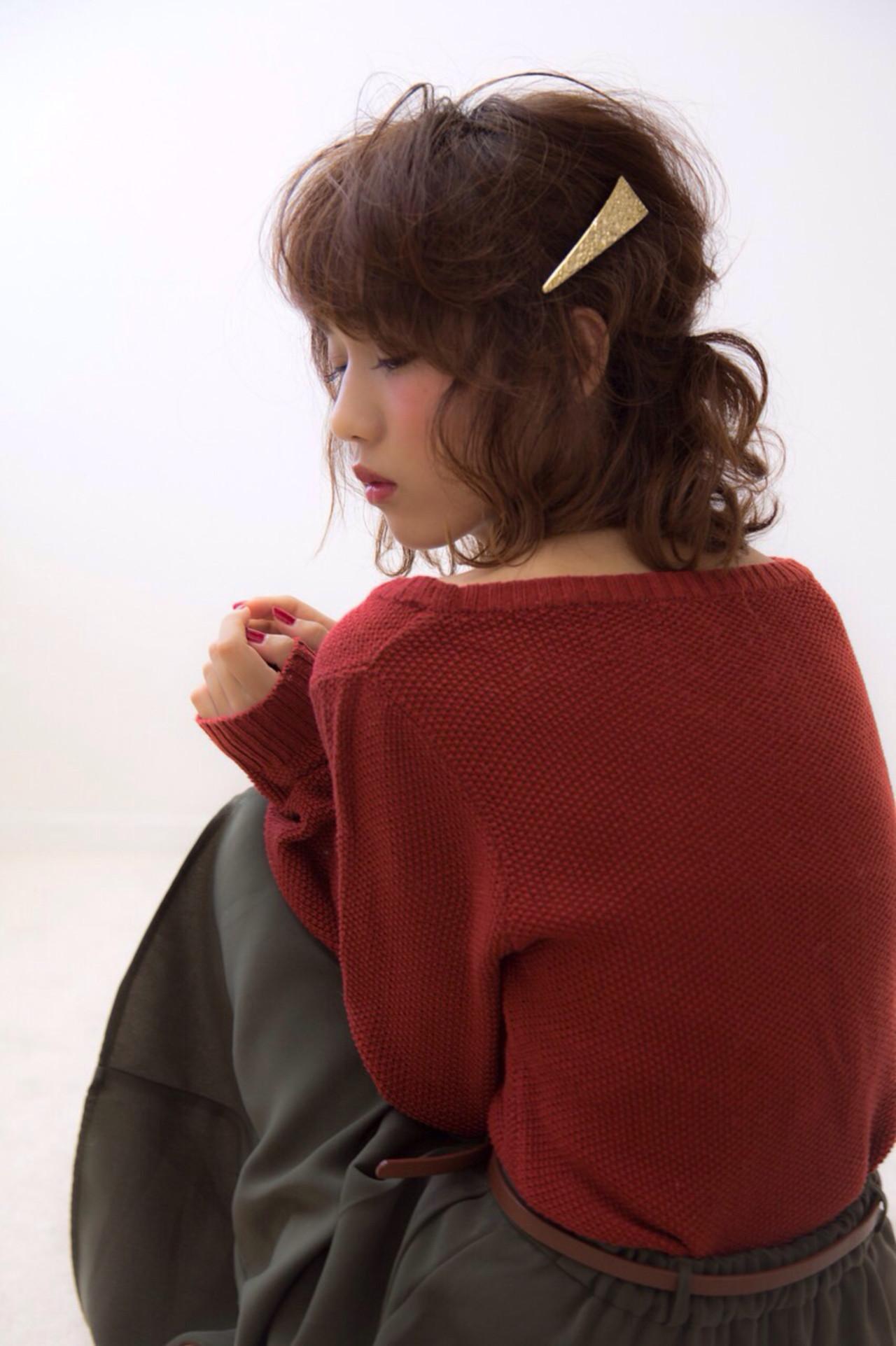 ゆるふわ バレッタ ヘアアレンジ 大人かわいい ヘアスタイルや髪型の写真・画像