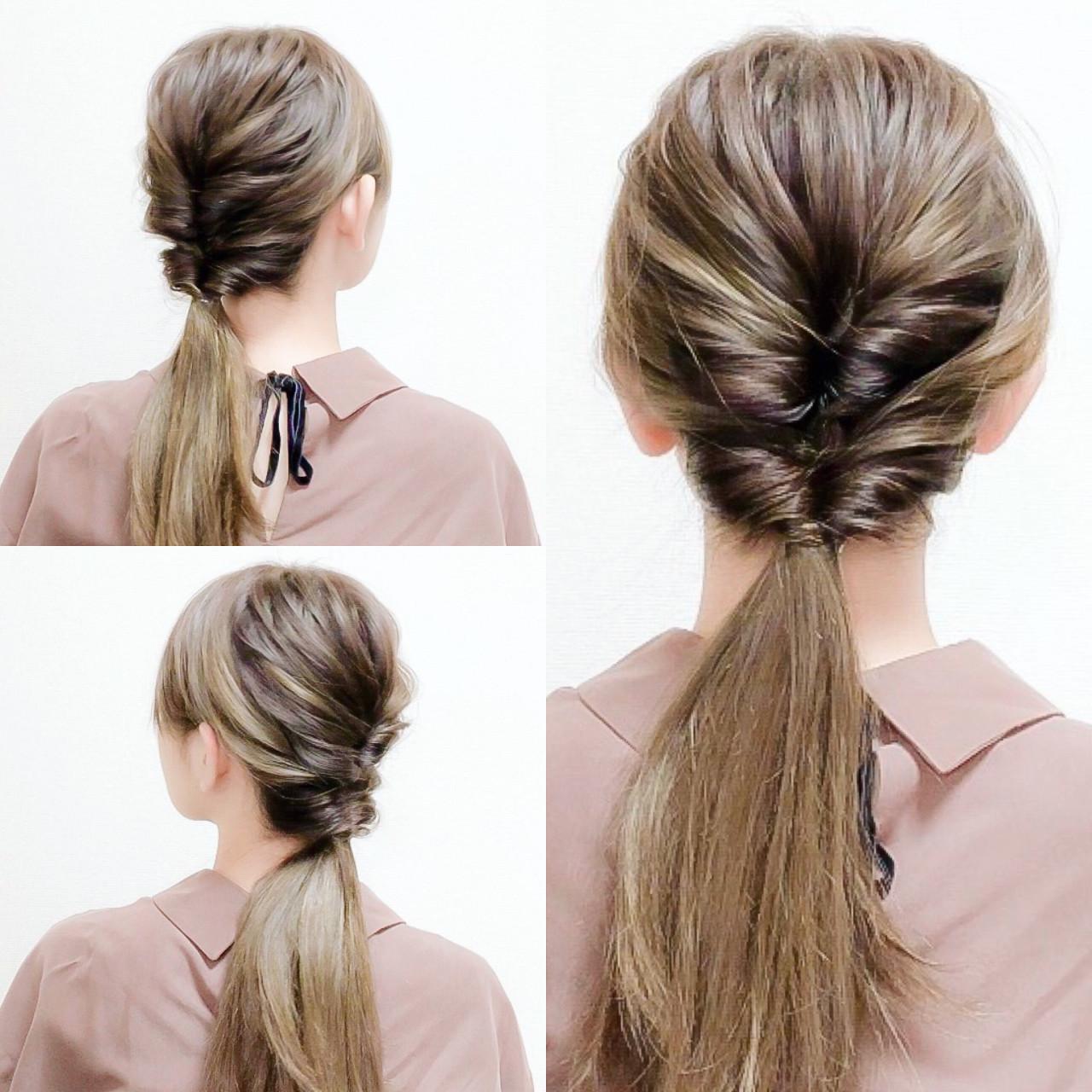 簡単ヘアアレンジ セルフヘアアレンジ ヘアアレンジ ロング ヘアスタイルや髪型の写真・画像